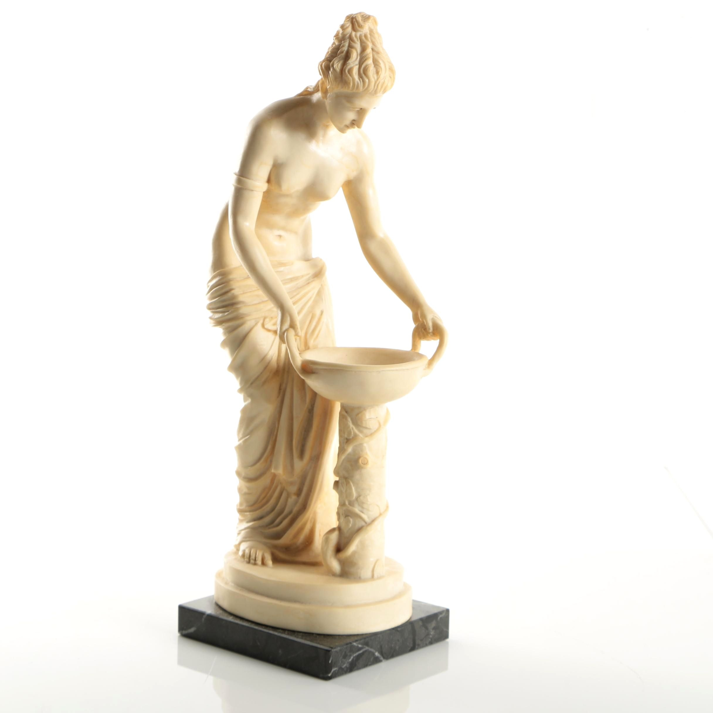"Reproduction Resin Sculpture After Antelma Santini ""Ancella"""