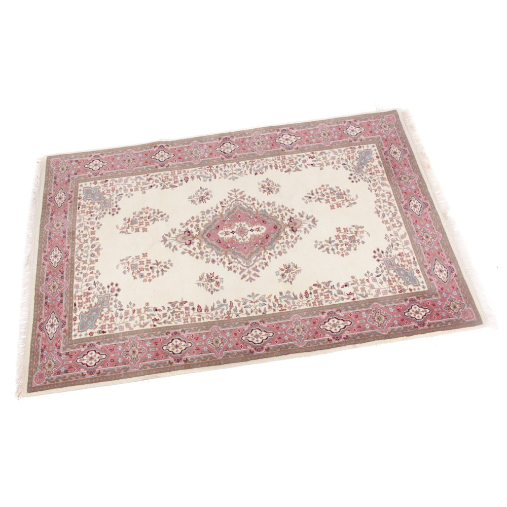 Hand-Knotted Indo-Persian Kerman Rug