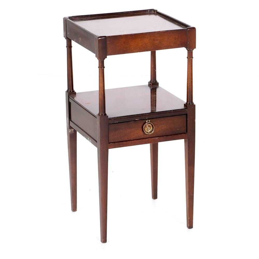 Hepplewhite Style Mahogany Two-Tiered Table