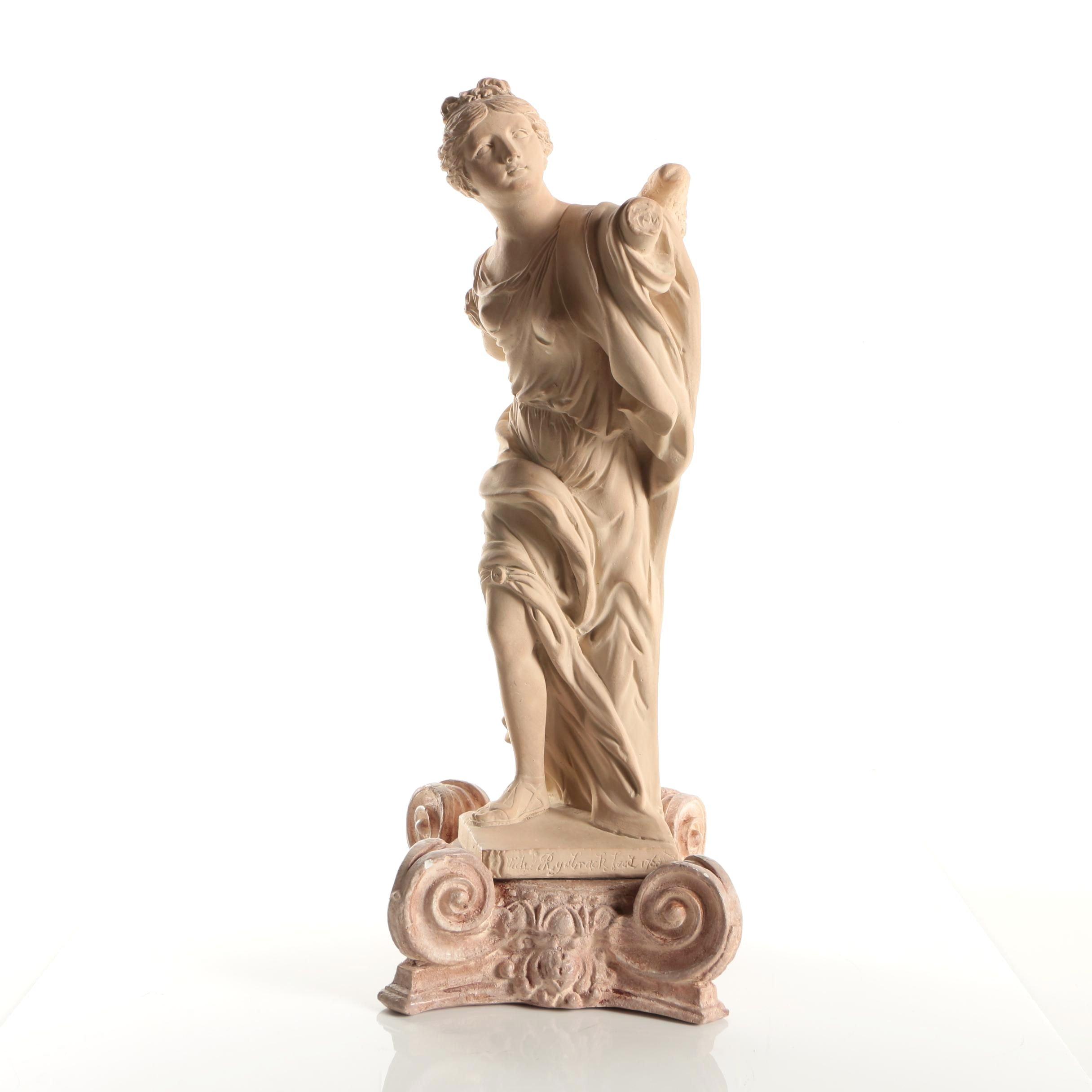 "Austin Sculpture Reproduction Plaster Figure After Rysbrack ""Fame"""