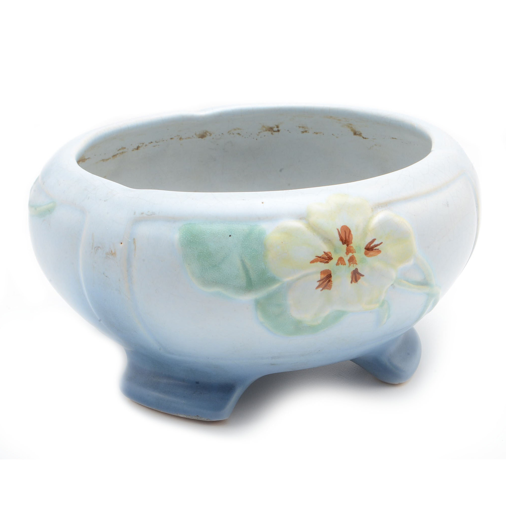 "1940s-1950s Weller ""Morning Glory"" Footed Bowl"