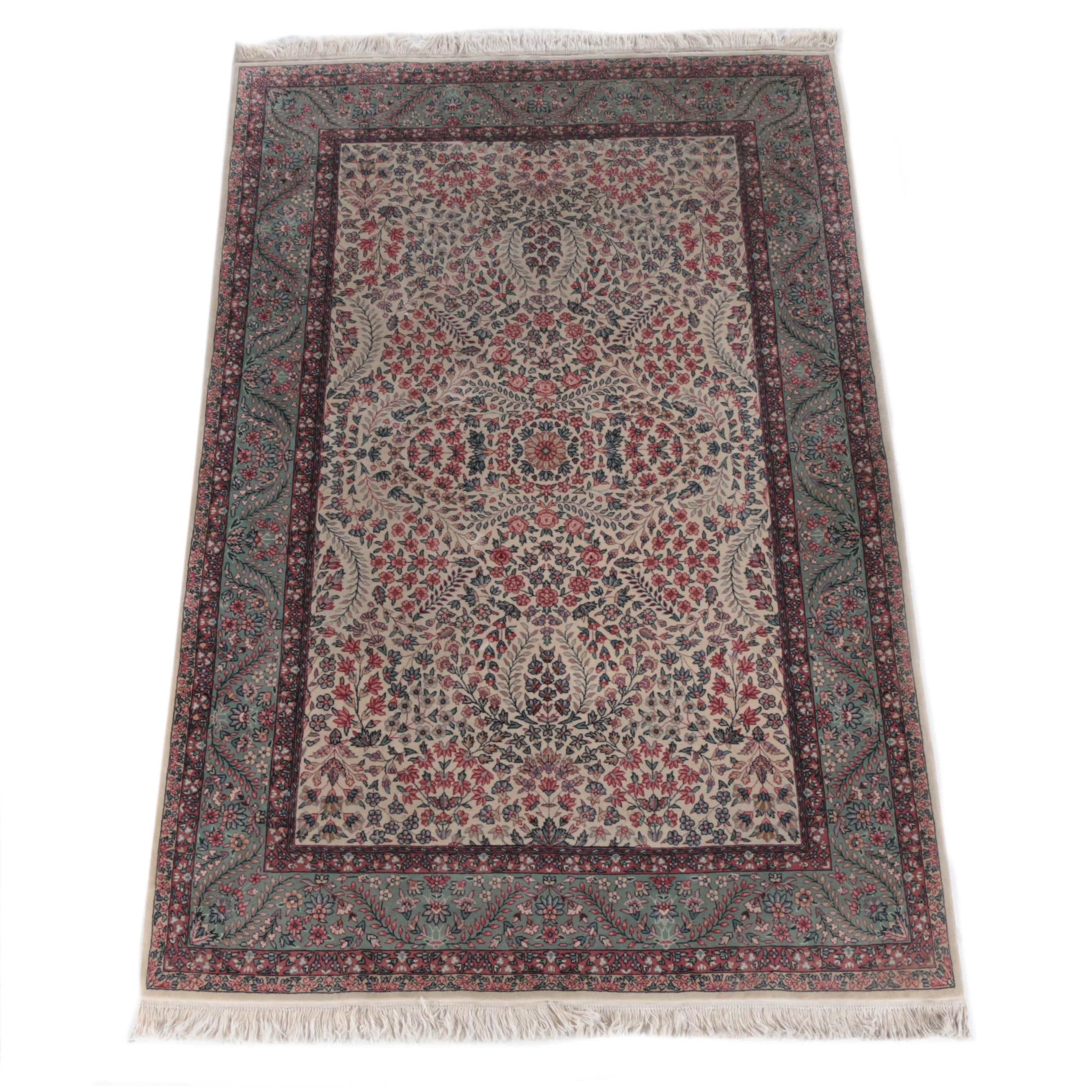 Finely Hand-Knotted Turkish Wool Area Rug