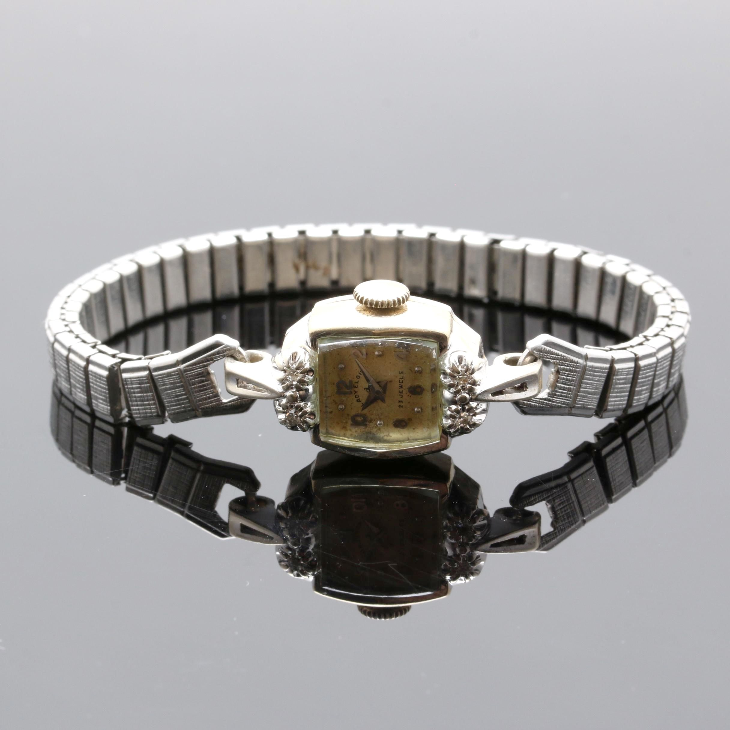 Lady Elgin 14K White Gold and Diamond Wristwatch
