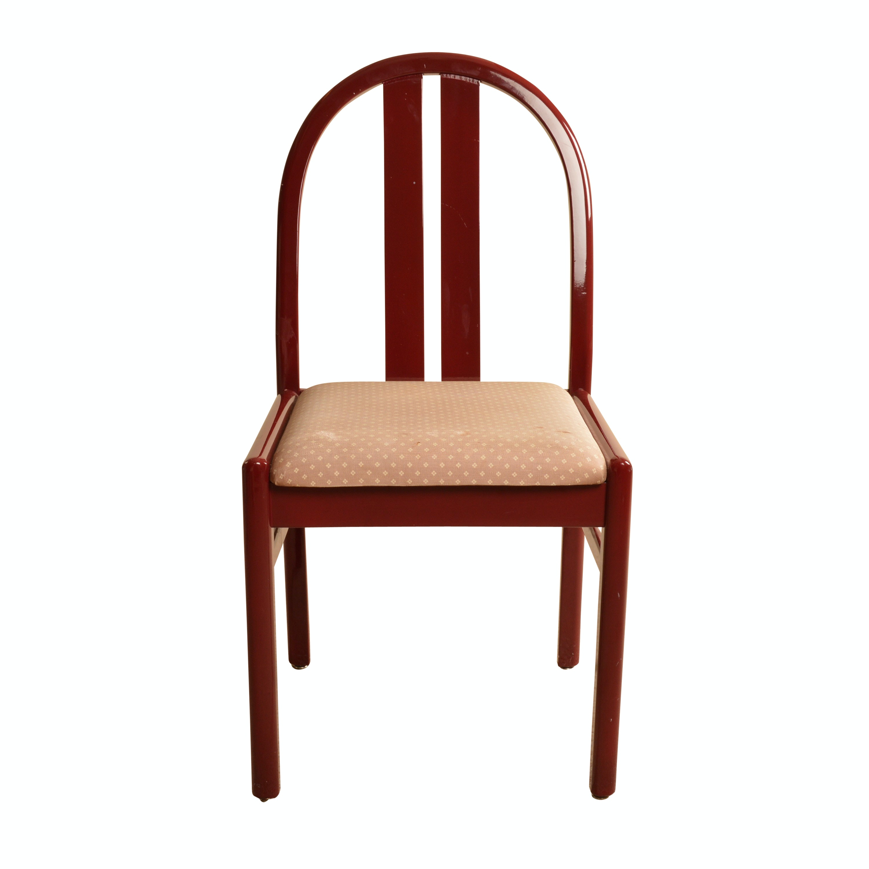 Red Lacquered Side Chair