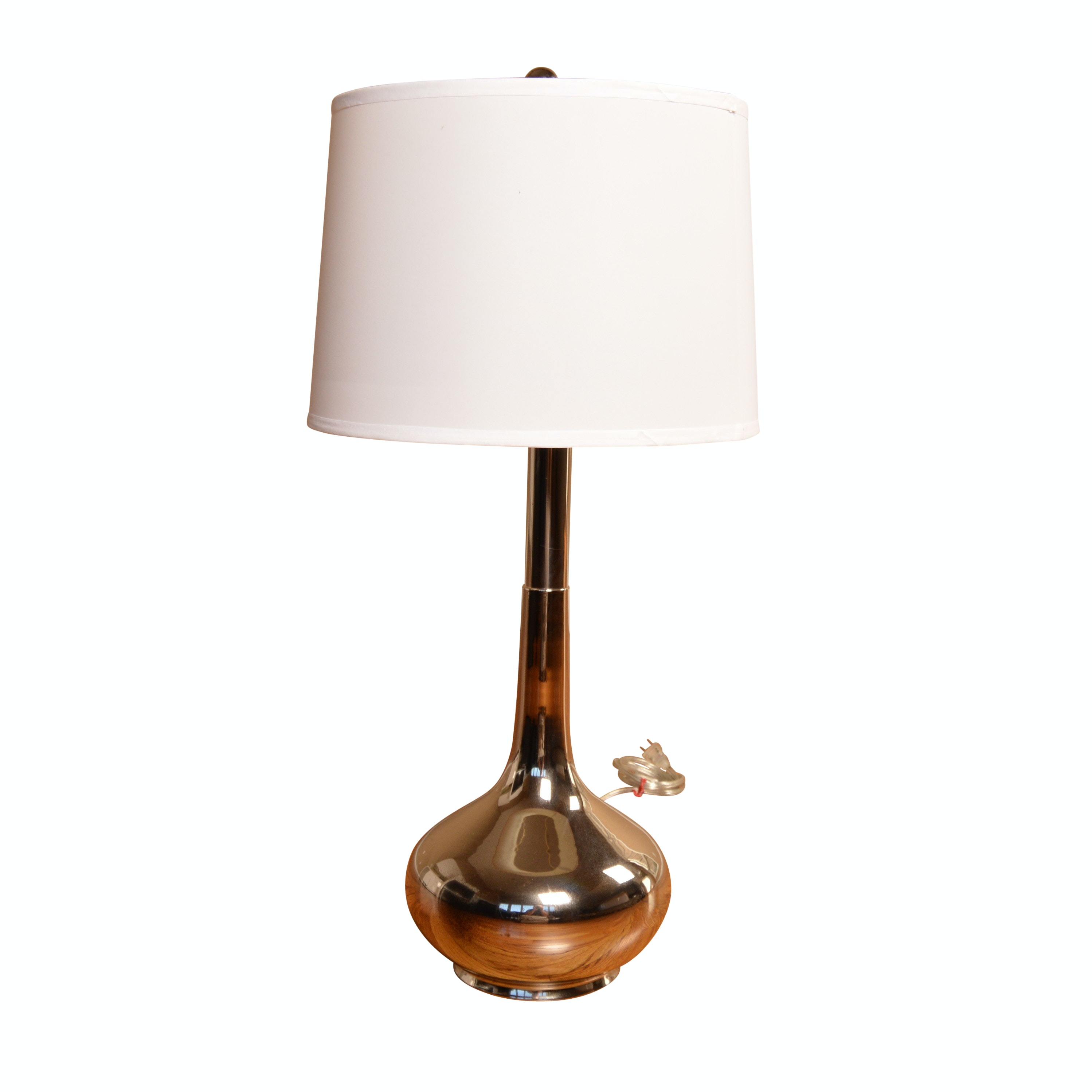 Metal Table Lamp with Drum Shade
