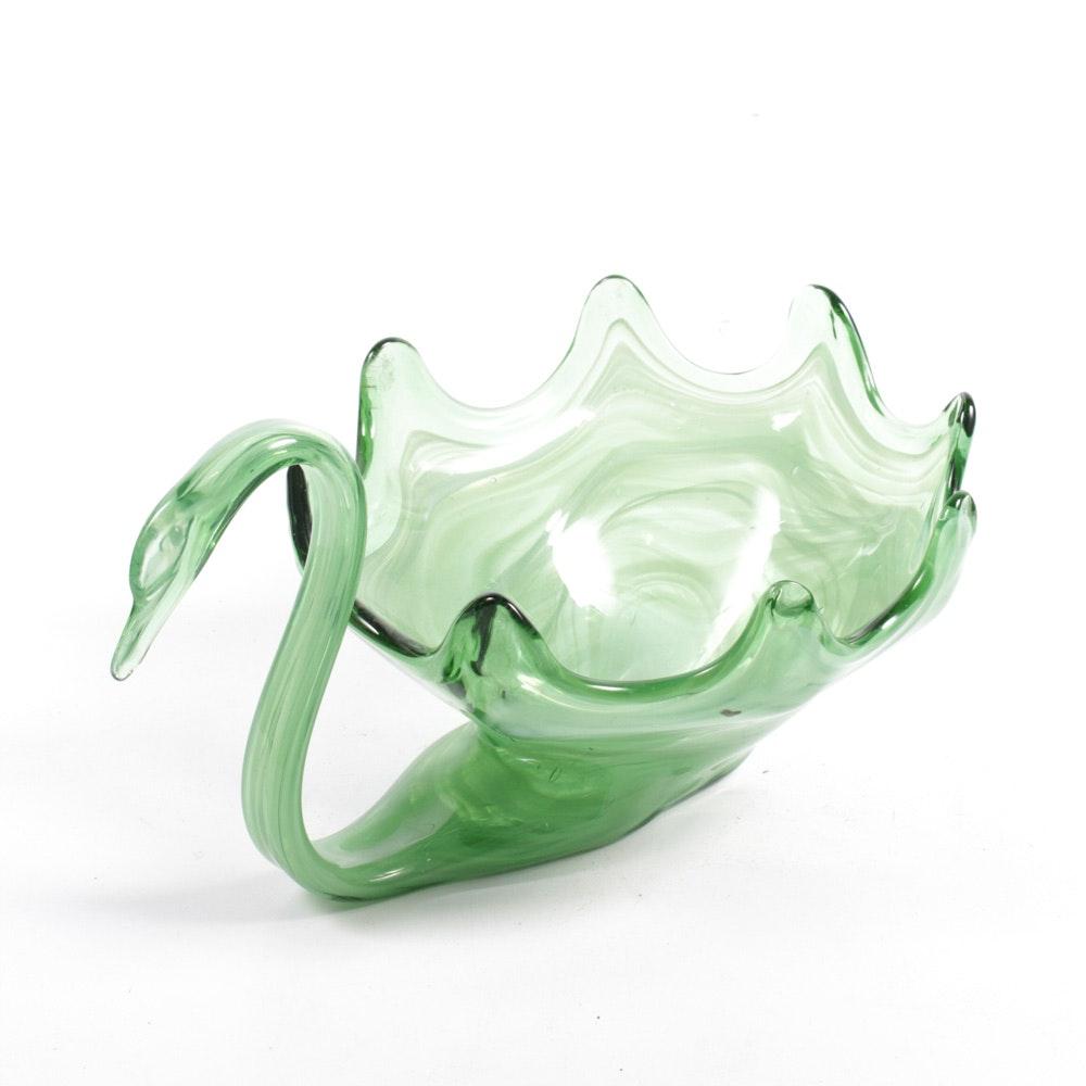 Murano Glass Swan Bowl