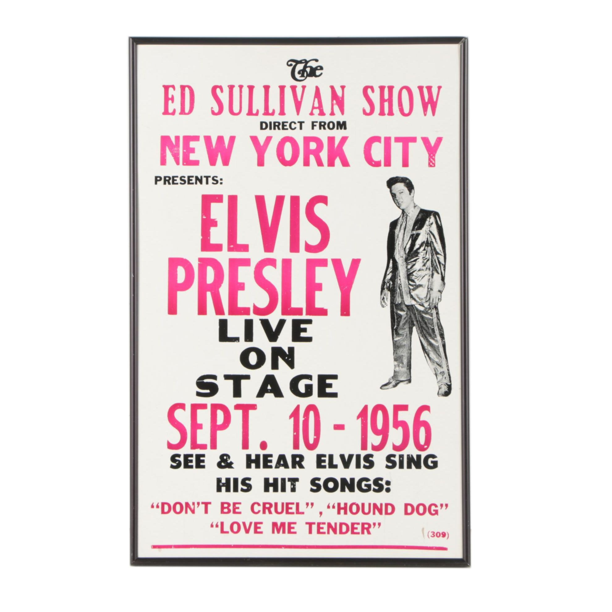 "Reproduction Poster ""The Ed Sullivan Show Presents: Elvis Presley"""