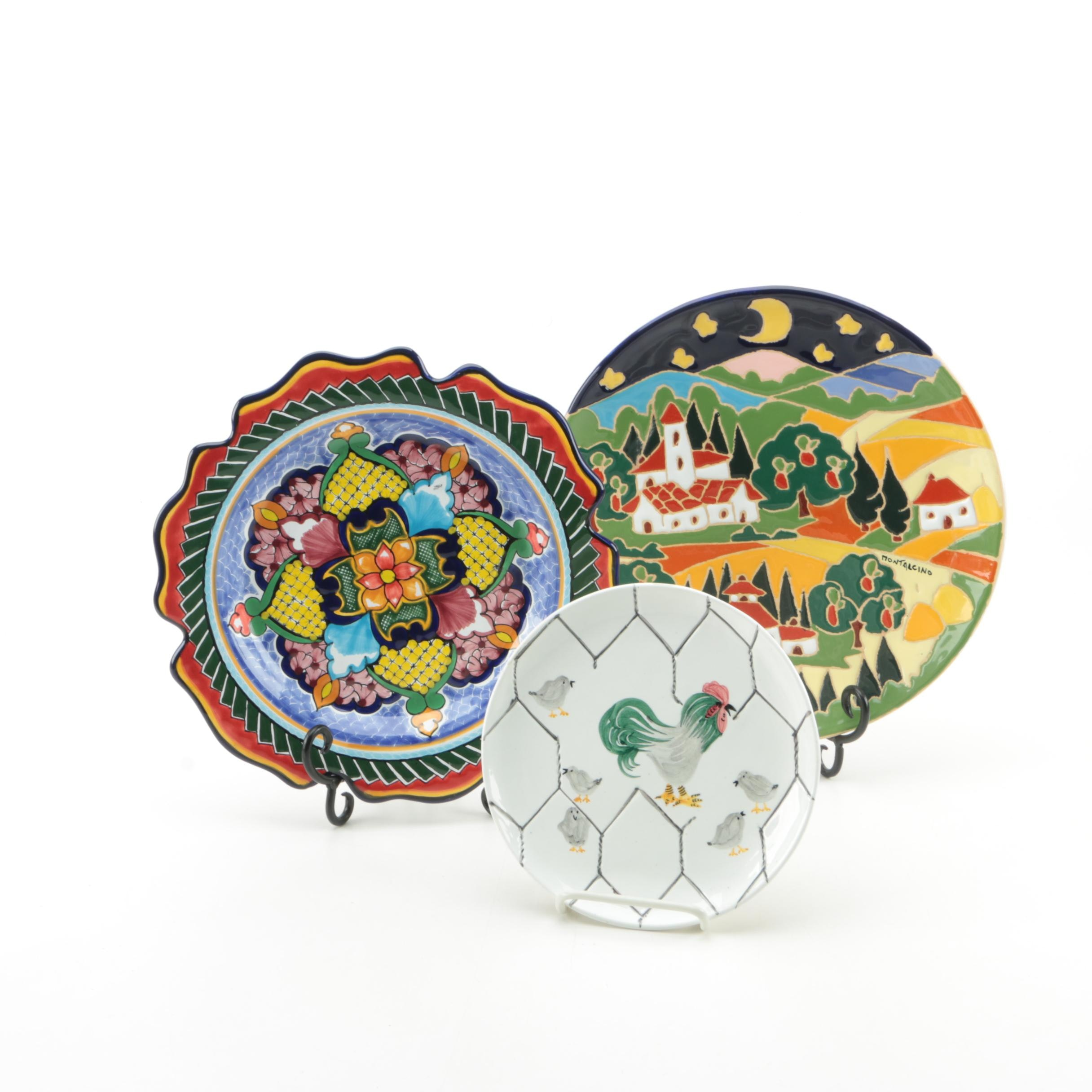 Hand-Painted Italian and Mexican Decorative Plates ...  sc 1 st  EBTH.com & Hand-Painted Italian and Mexican Decorative Plates : EBTH