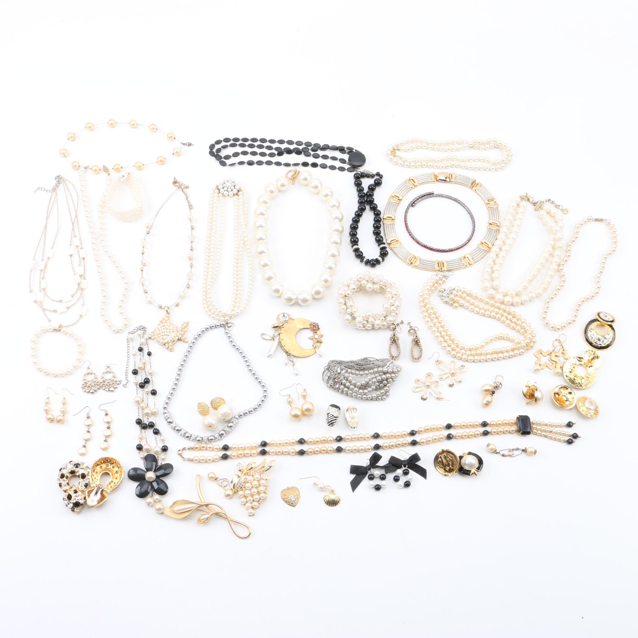 Jewelry Assortment Including Cultured Pearls