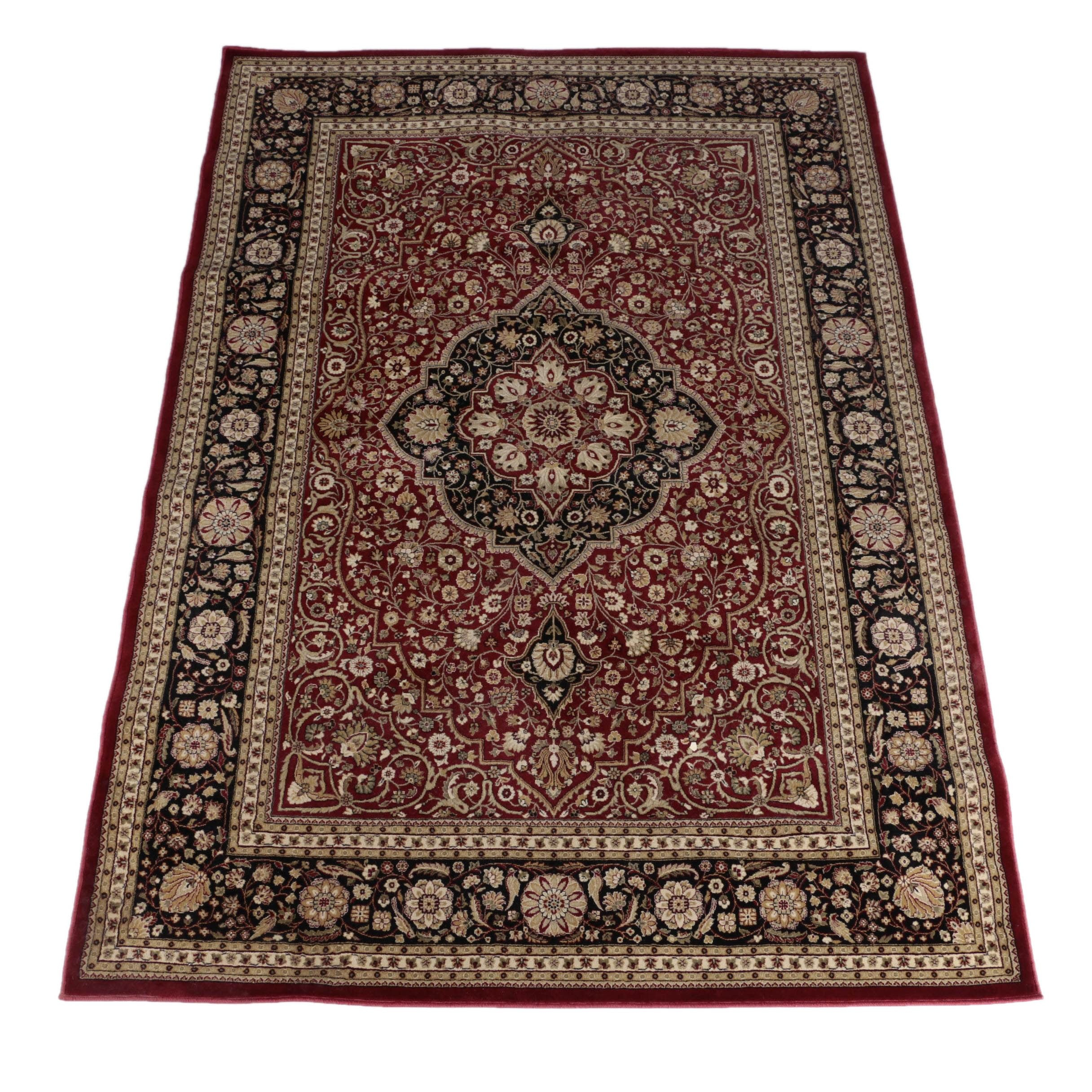 "Power-Loomed ""Taughton Claret"" Area Rug"