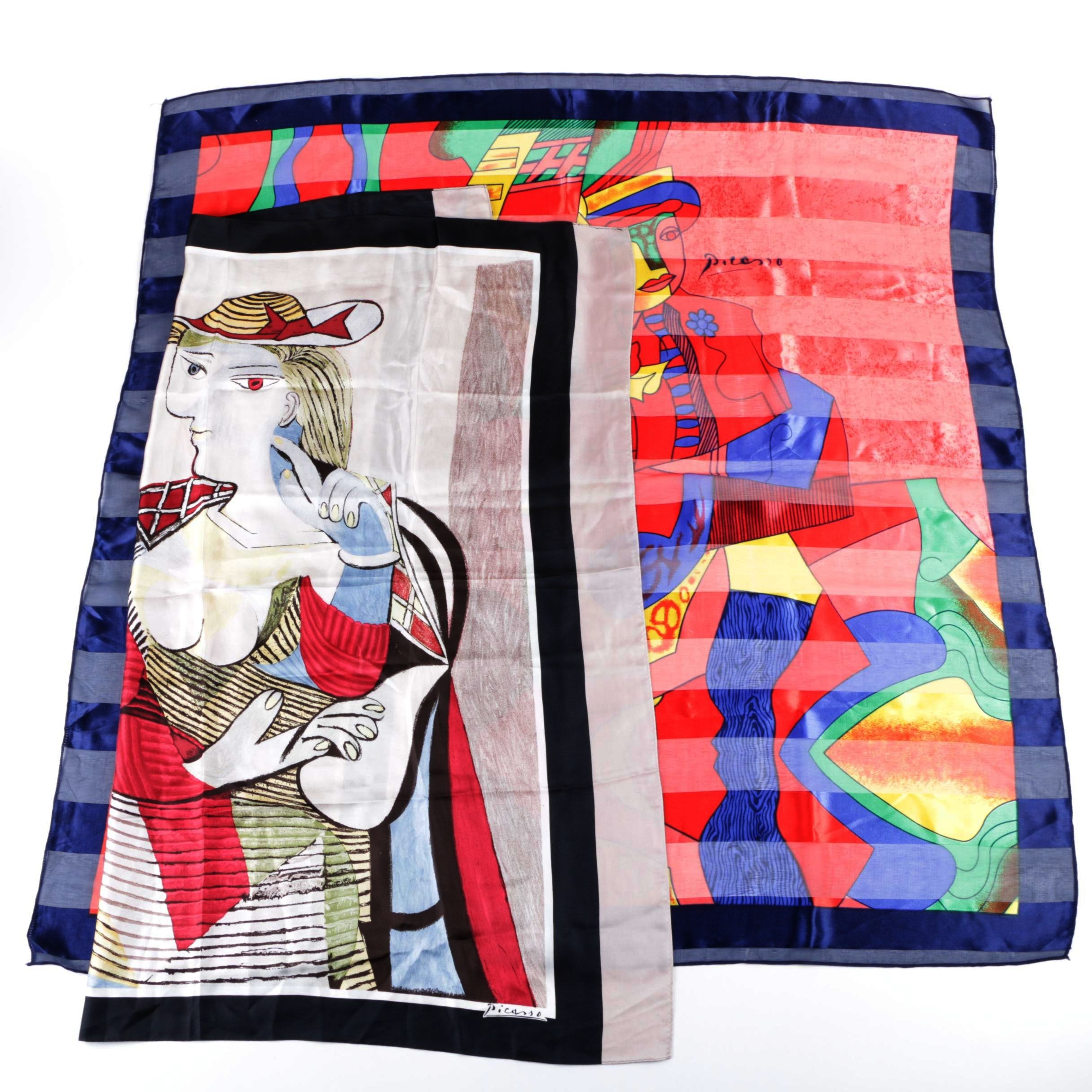 Picasso Themed Scarves Including Silk