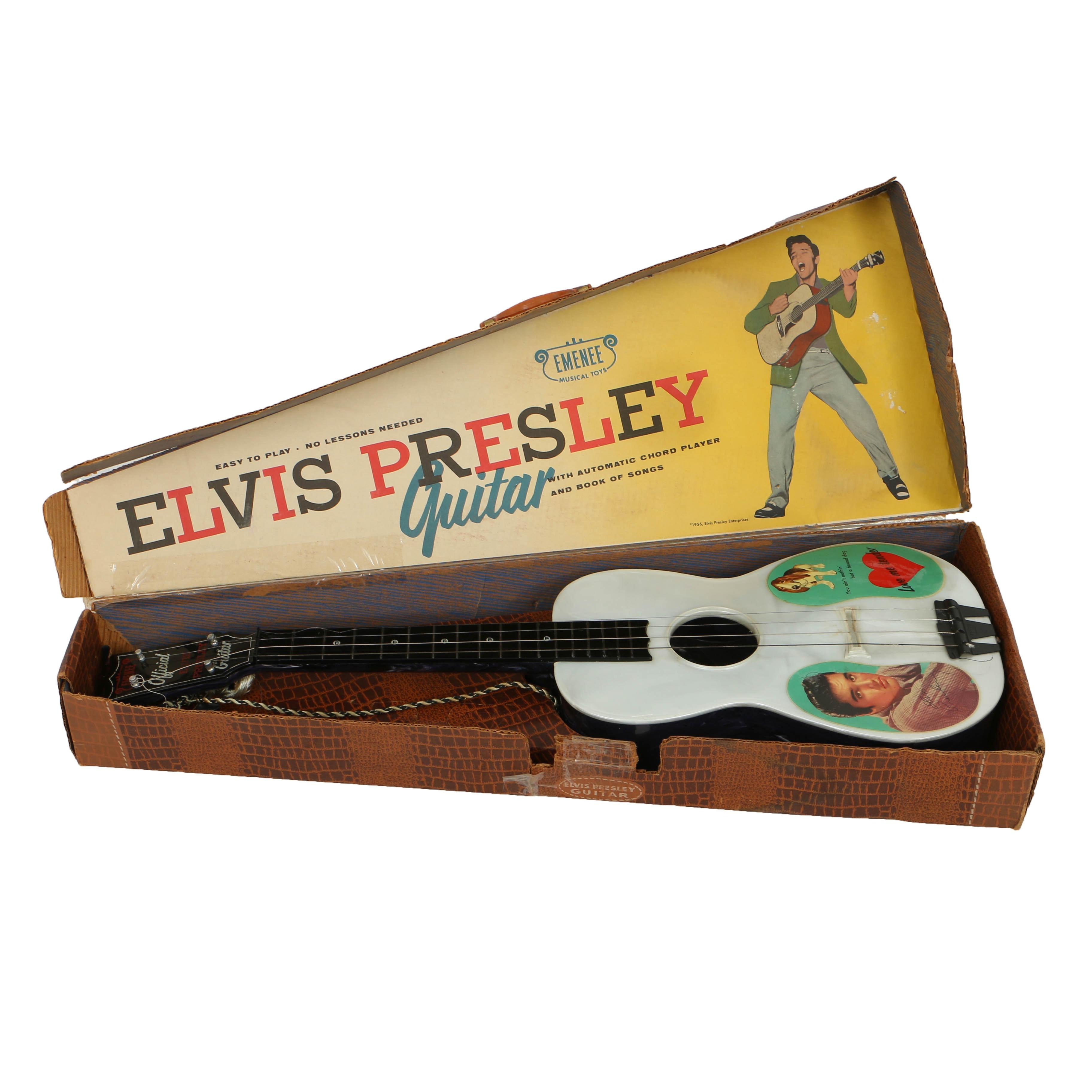 """1956 Emenee Musical Toys """"Elvis Presley"""" Guitar"""