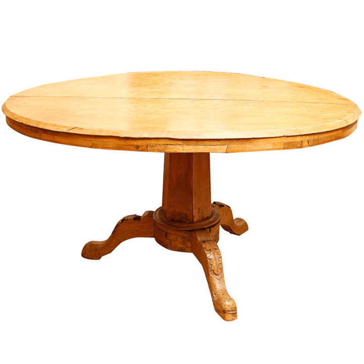 Antique Oval Pedestal Dining Table