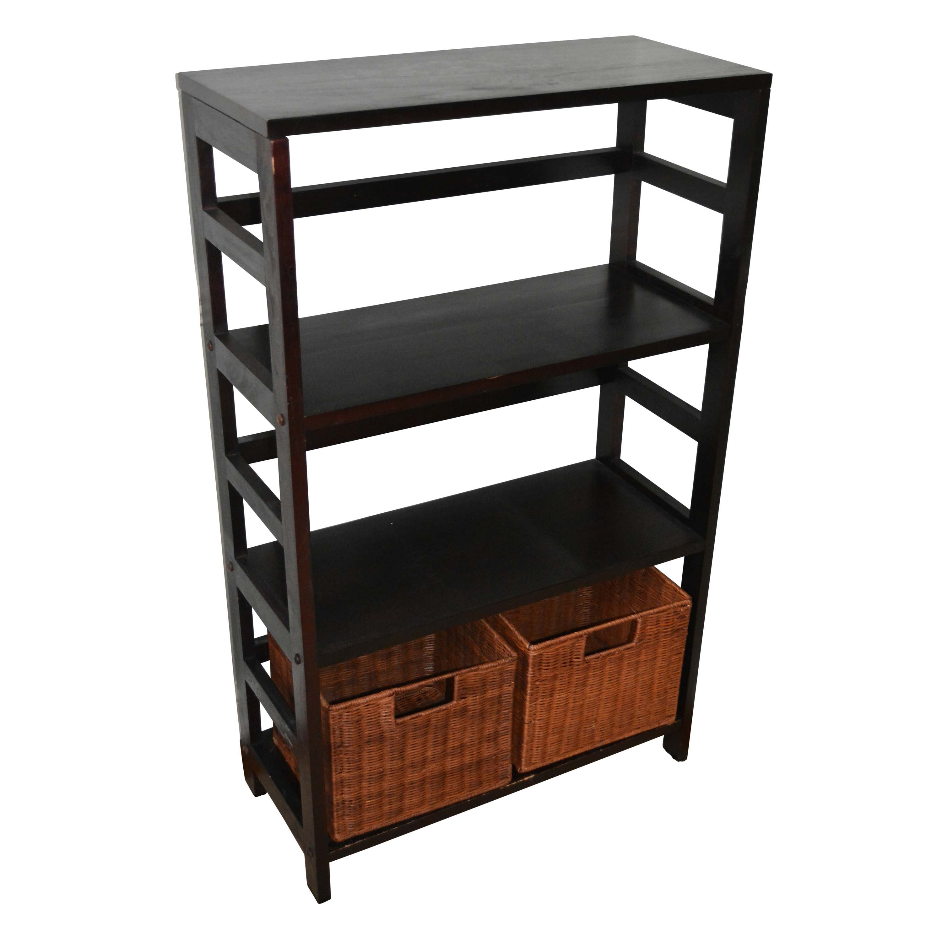 Open Shelving Unit with Two Baskets