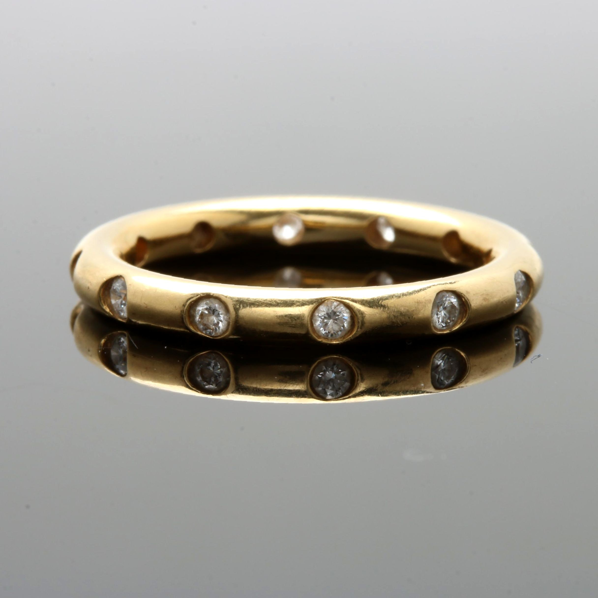 Tiffany & Co. 18K Yellow Gold Diamond Eternity Band