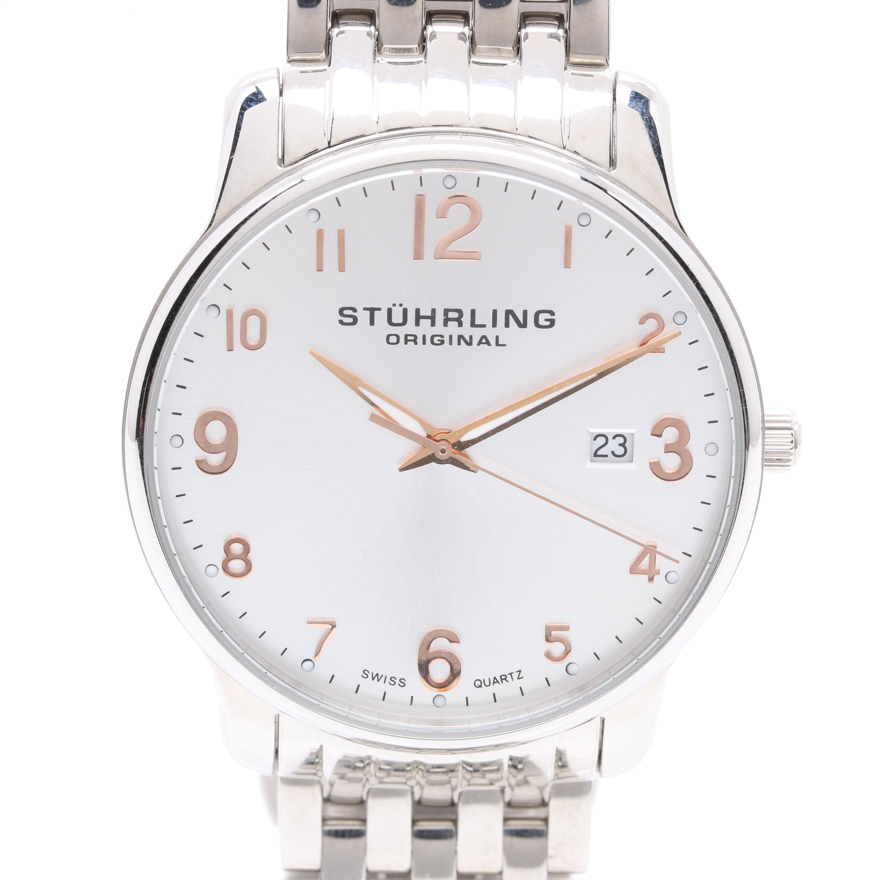 Stührling Original Stainless Steel Wristwatch