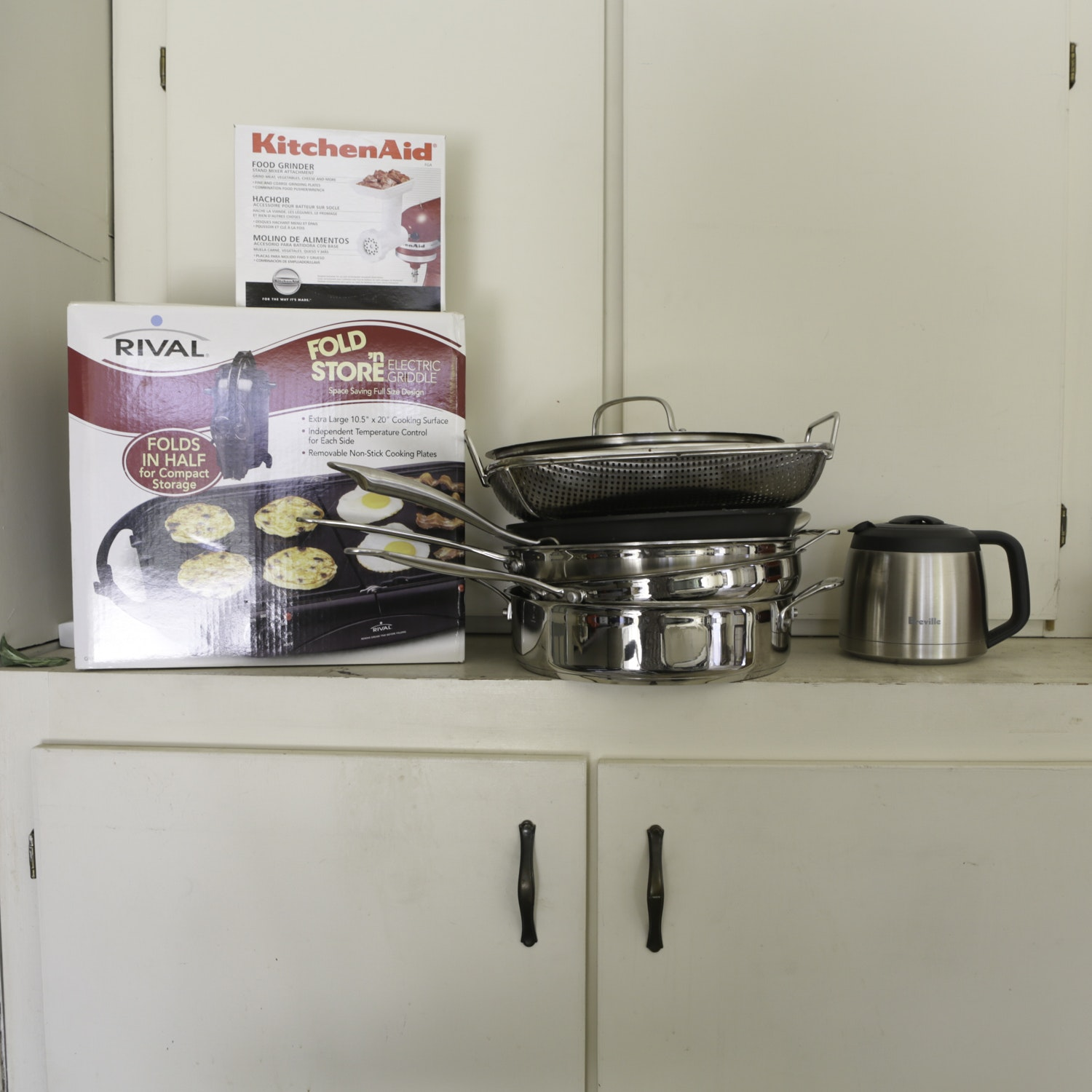 Incroyable Cookware, Electric Griddle, KitchenAid Food Grinder And Kitchen Accessories  ...