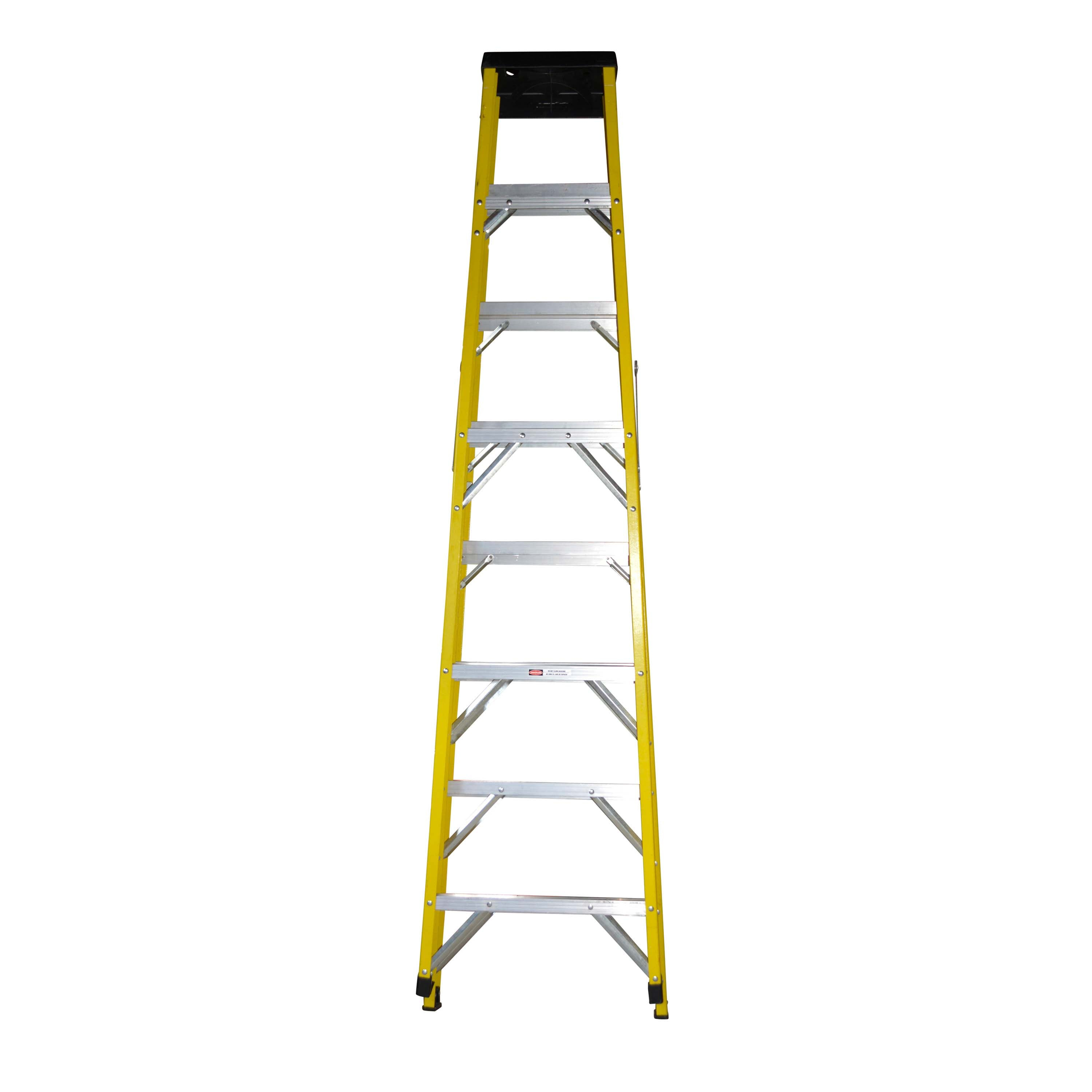 Husky Brand Yellow and Silver Tone Ladder