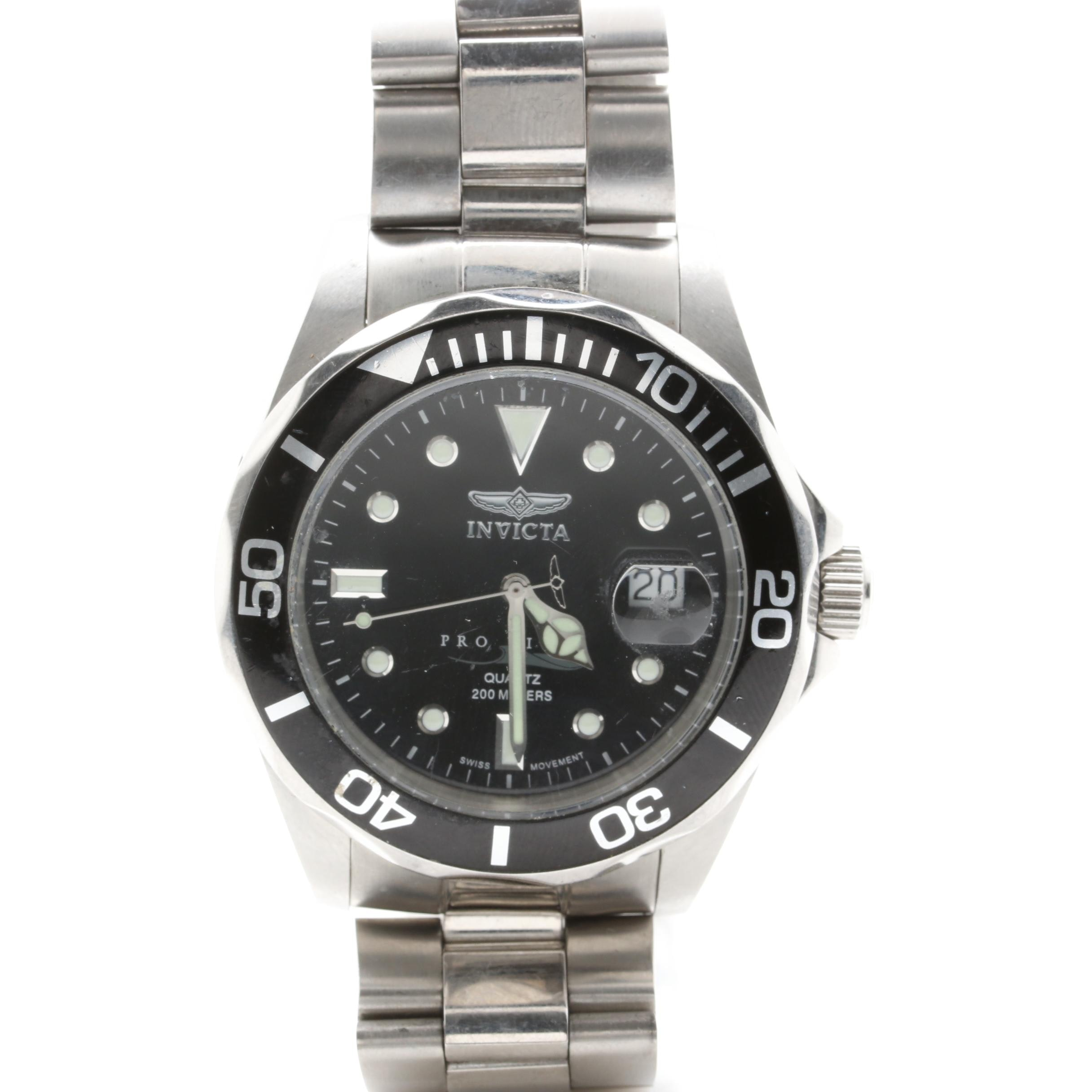 """Invicta Stainless Steel """"Pro Diver"""" Wristwatch"""