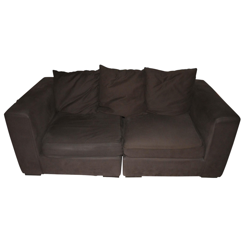 Brown West Elm Modular Sofa