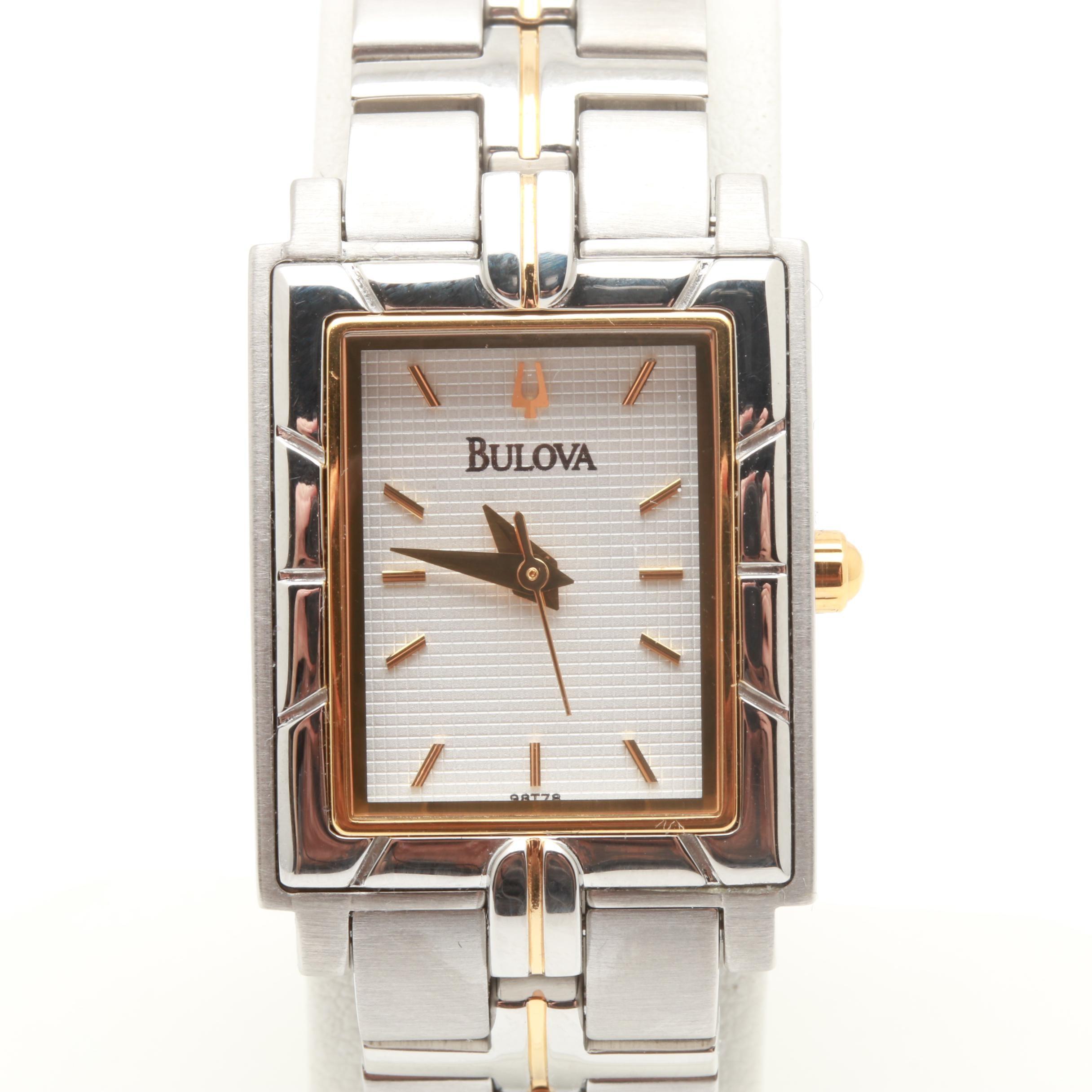 Bulova Two Tone Wristwatch