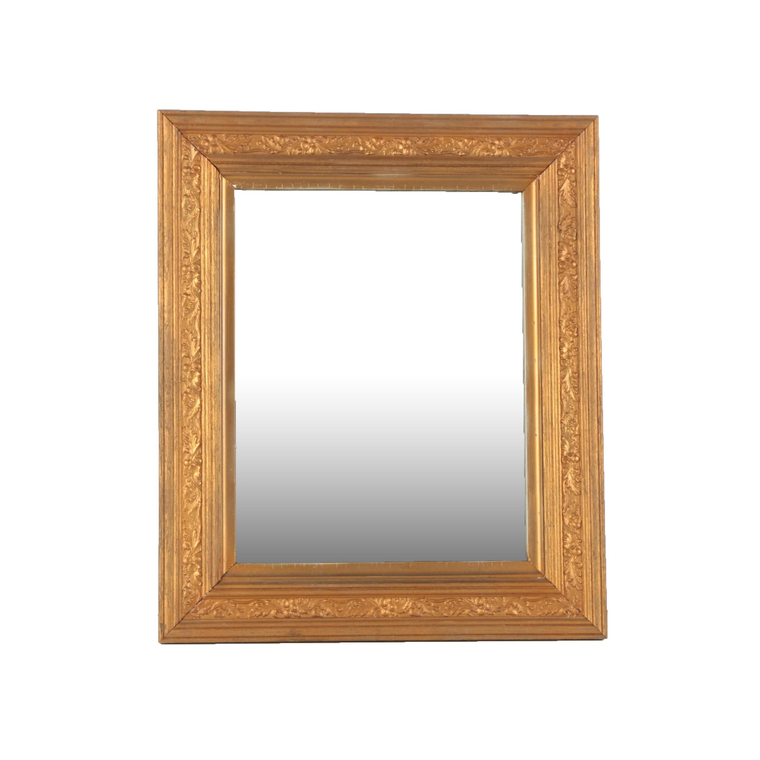 Late 19th Century Wood Framed Wall Mirror