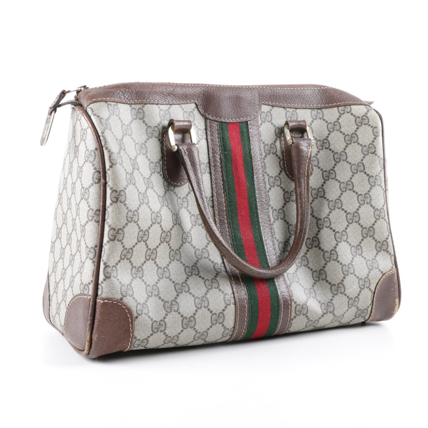 7cd9f1f6a26 Vintage Gucci Supreme Canvas Handbag   EBTH