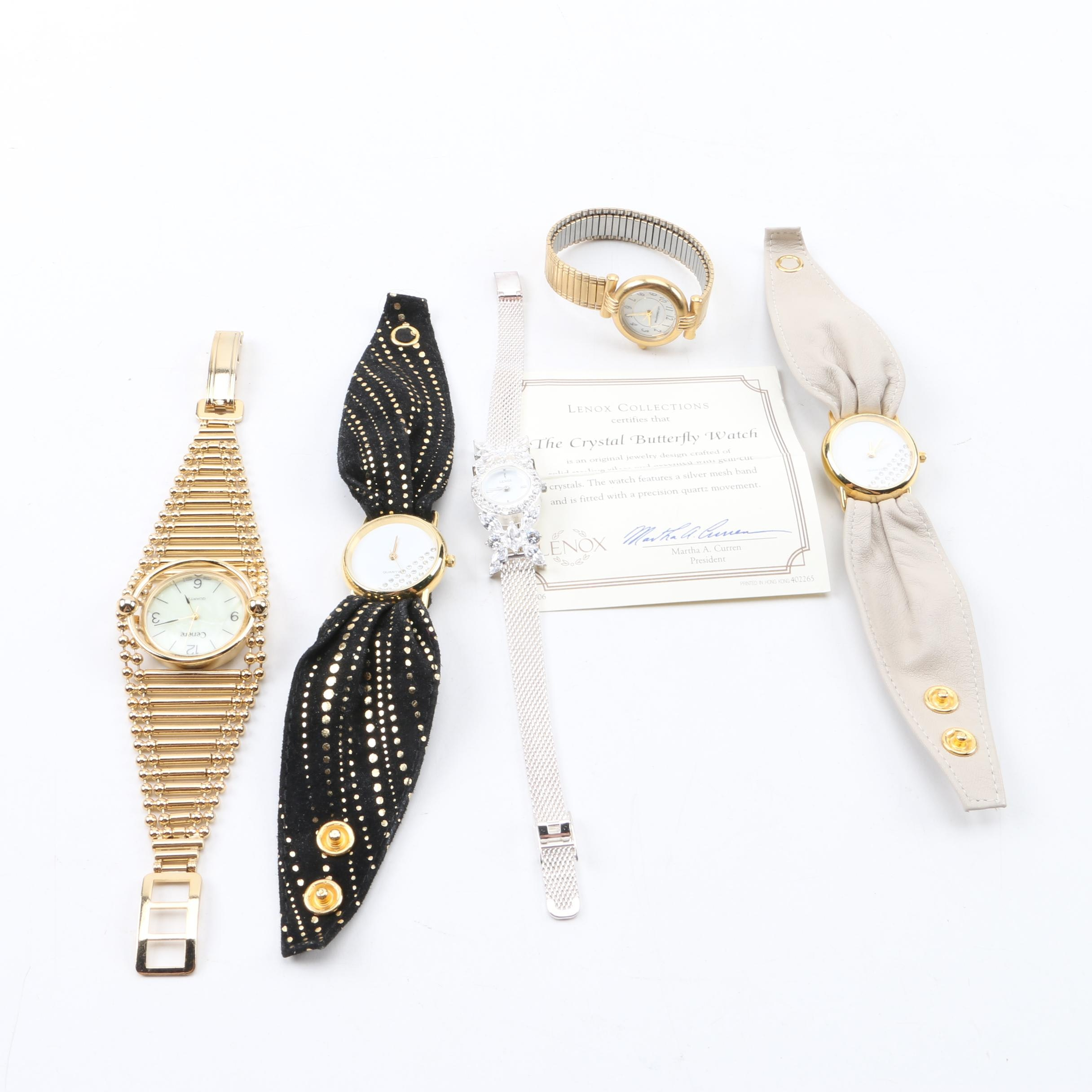 Wristwatches Featuring Cenere, Sterling Silver Lenox and Liz Claiborne