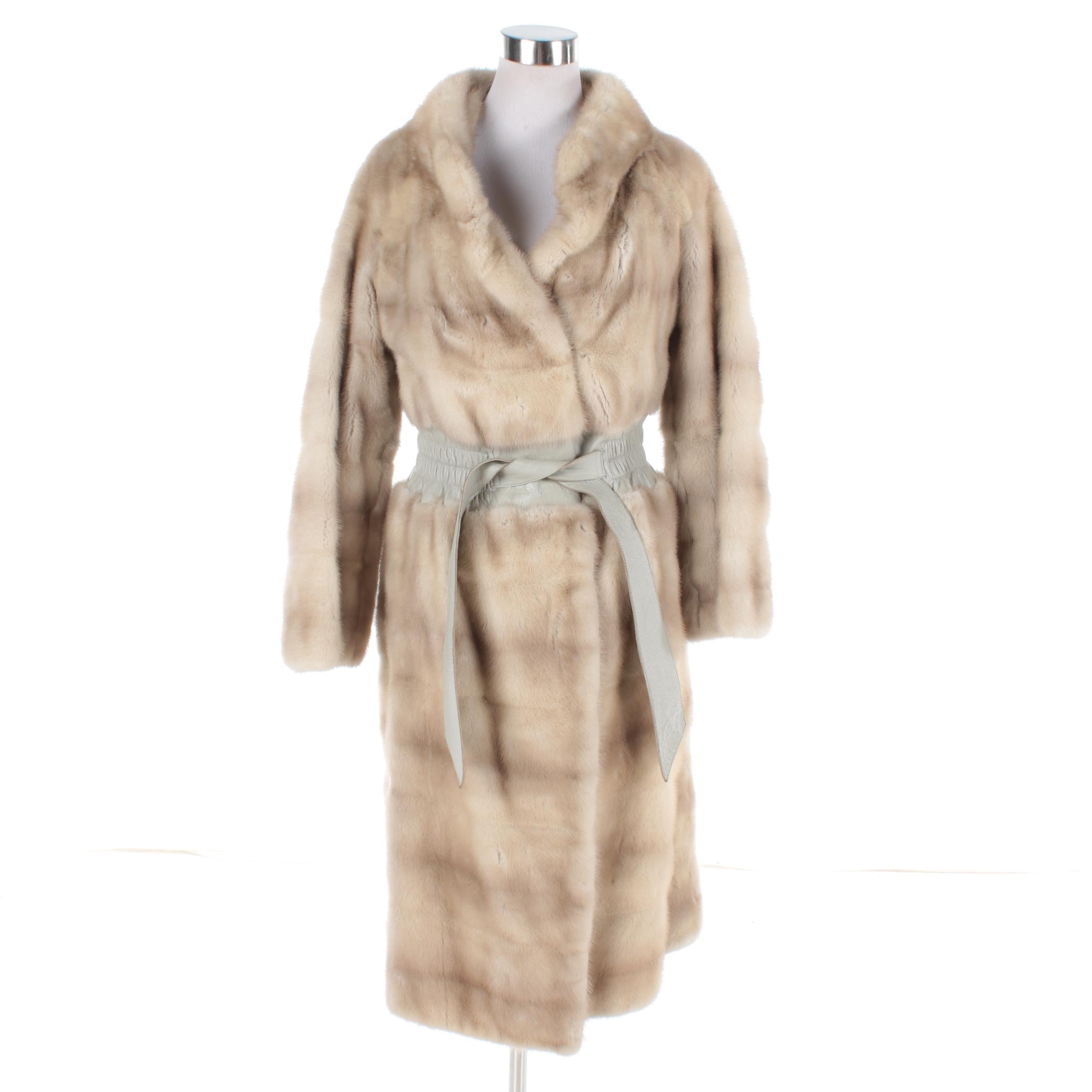 Women's Vintage Heinemann Pastel Mink Fur Coat
