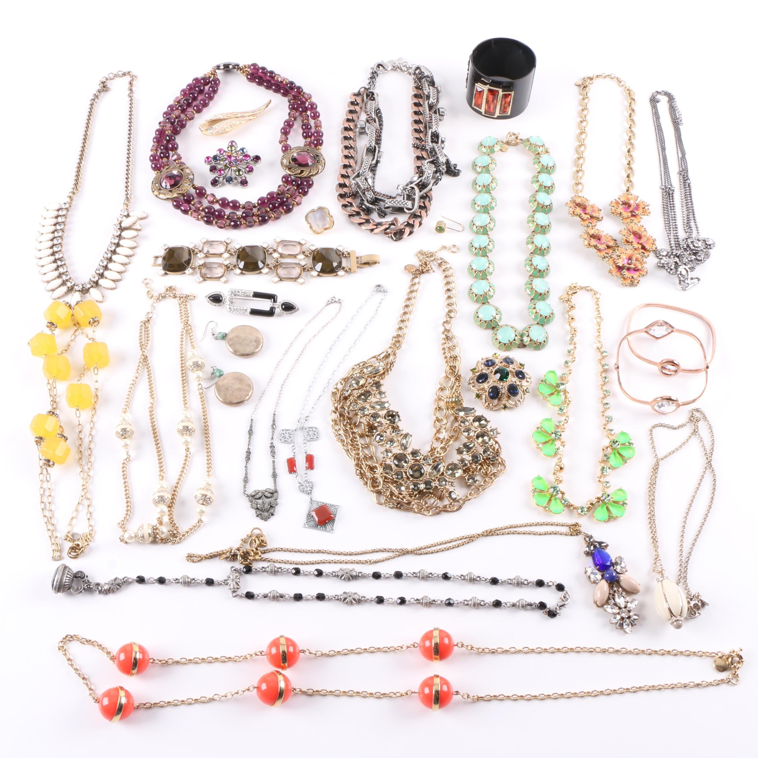 Assortment of Costume Jewelry Including J. Crew and Fallon