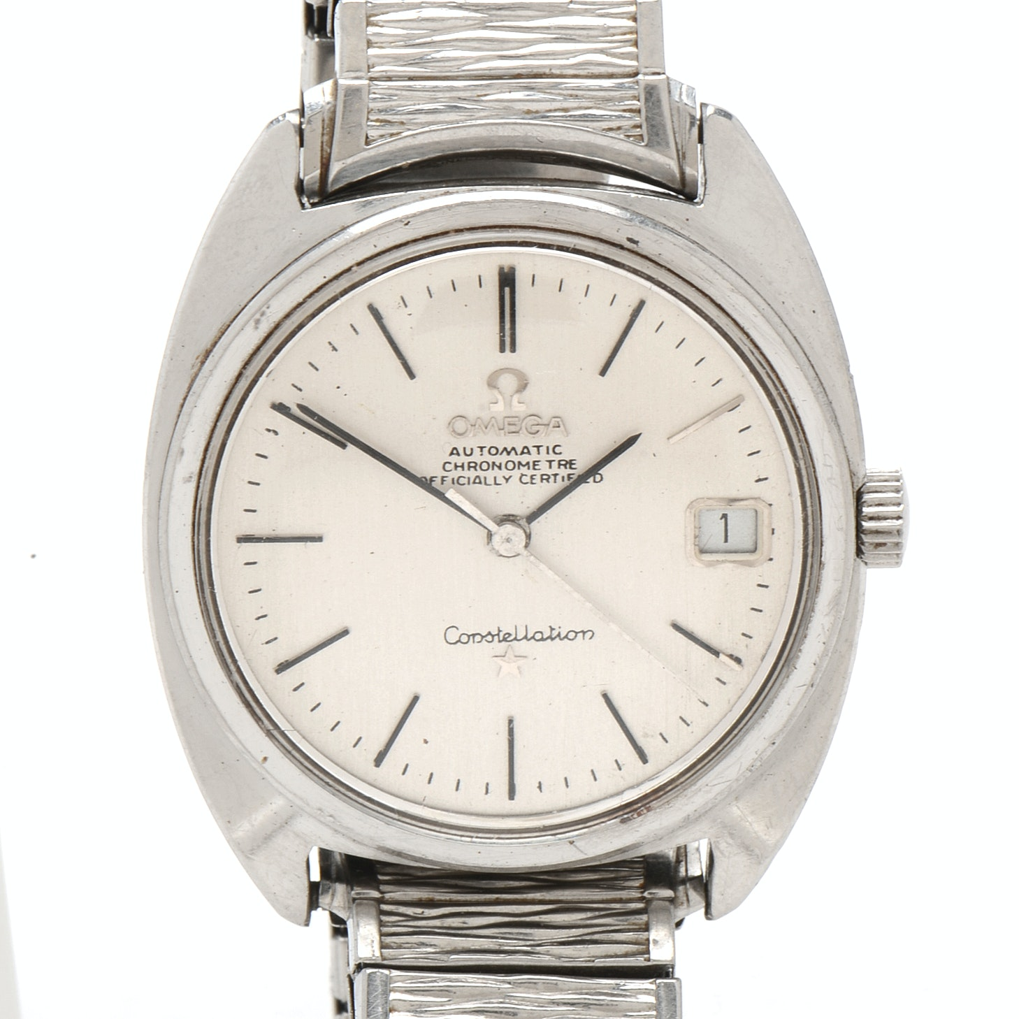 Vintage Omega Constellation Automatic Stainless Steel Wristwatch