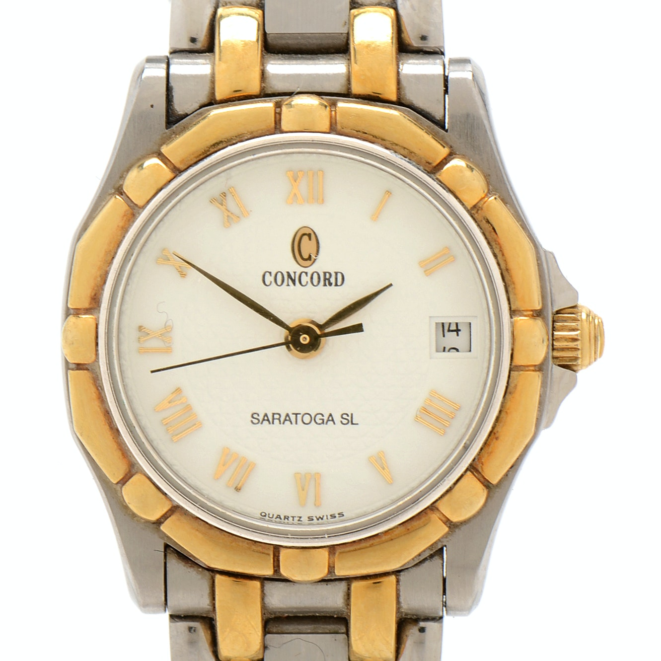 Concord Saratoga 18K Yellow Gold and Stainless Steel Wristwatch