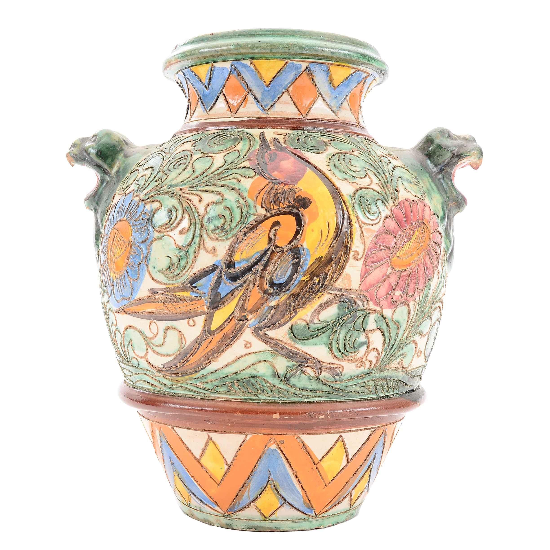 Vintage Italian Aretini Pottery Vase