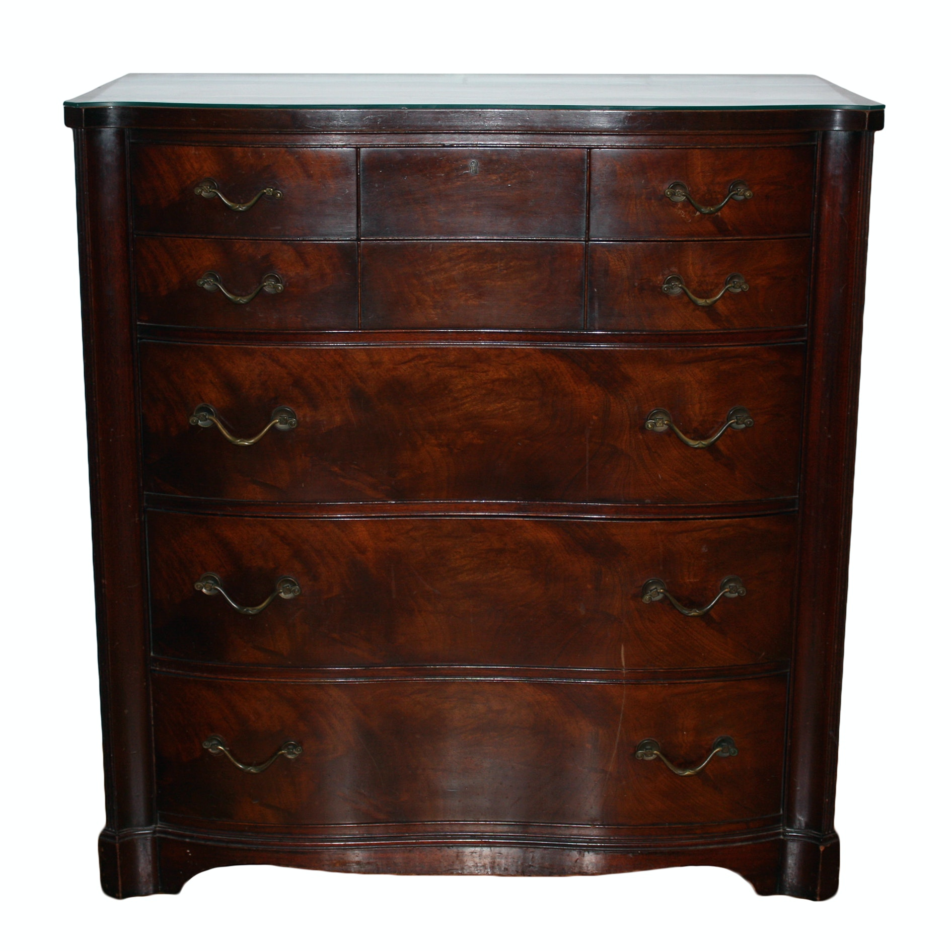 Vintage Federal Style Mahogany Chest of Drawers by Tomlinson