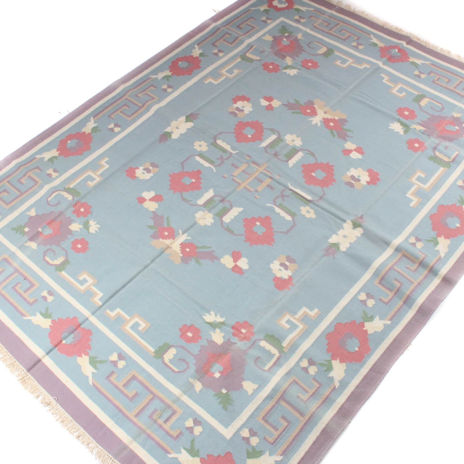 Hand Knotted Indo-Persian Kilim Room Size Rug