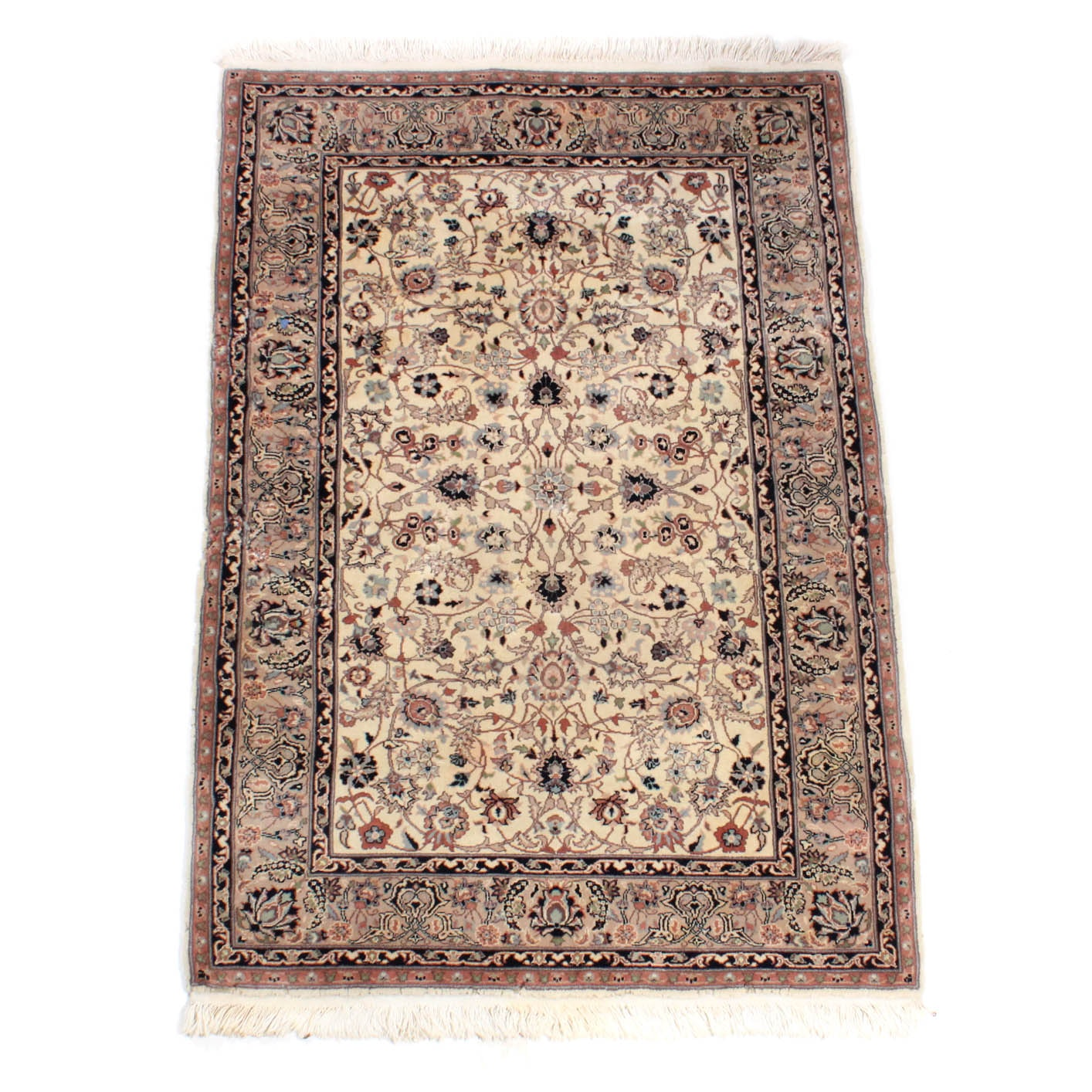 Vintage Hand Knotted Sino-Persian Tabriz Rug