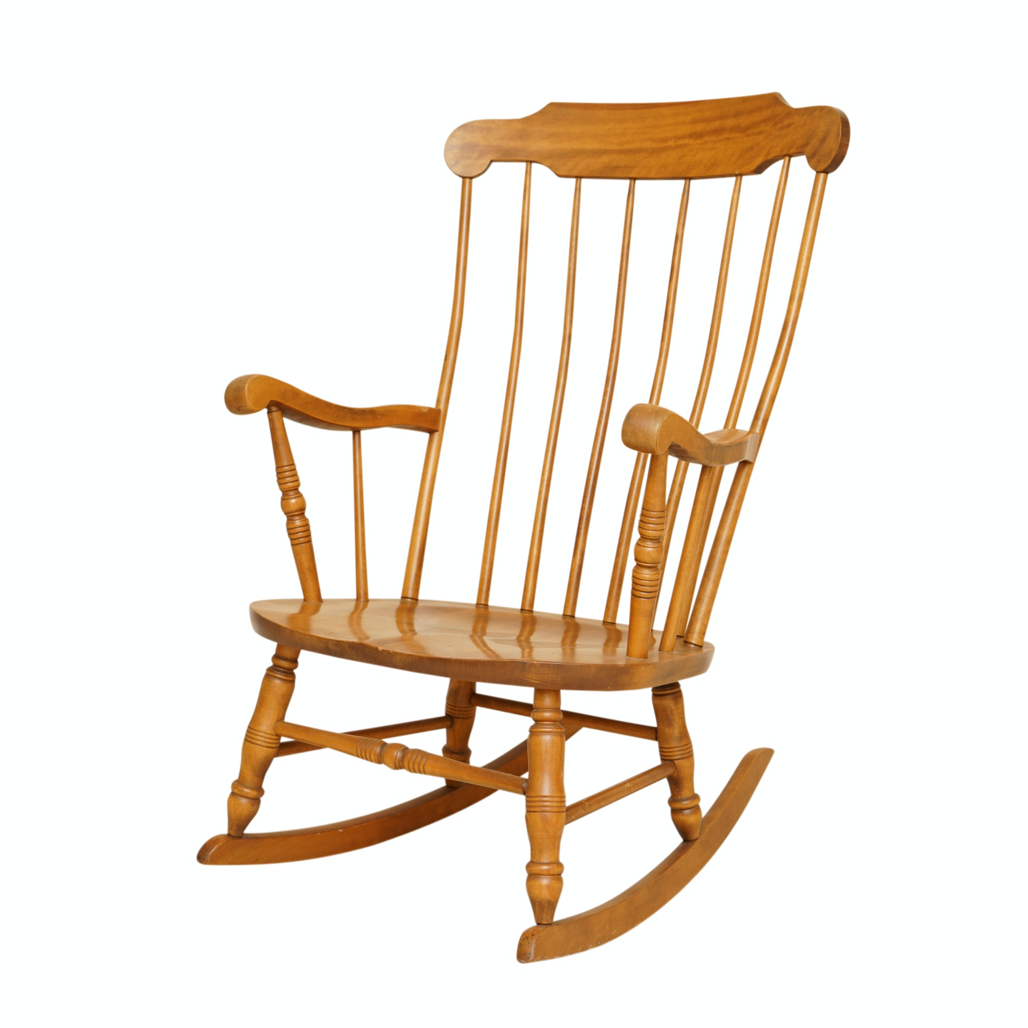 Merveilleux Vintage Maple Rocking Chair By S. Bent U0026 Bros.