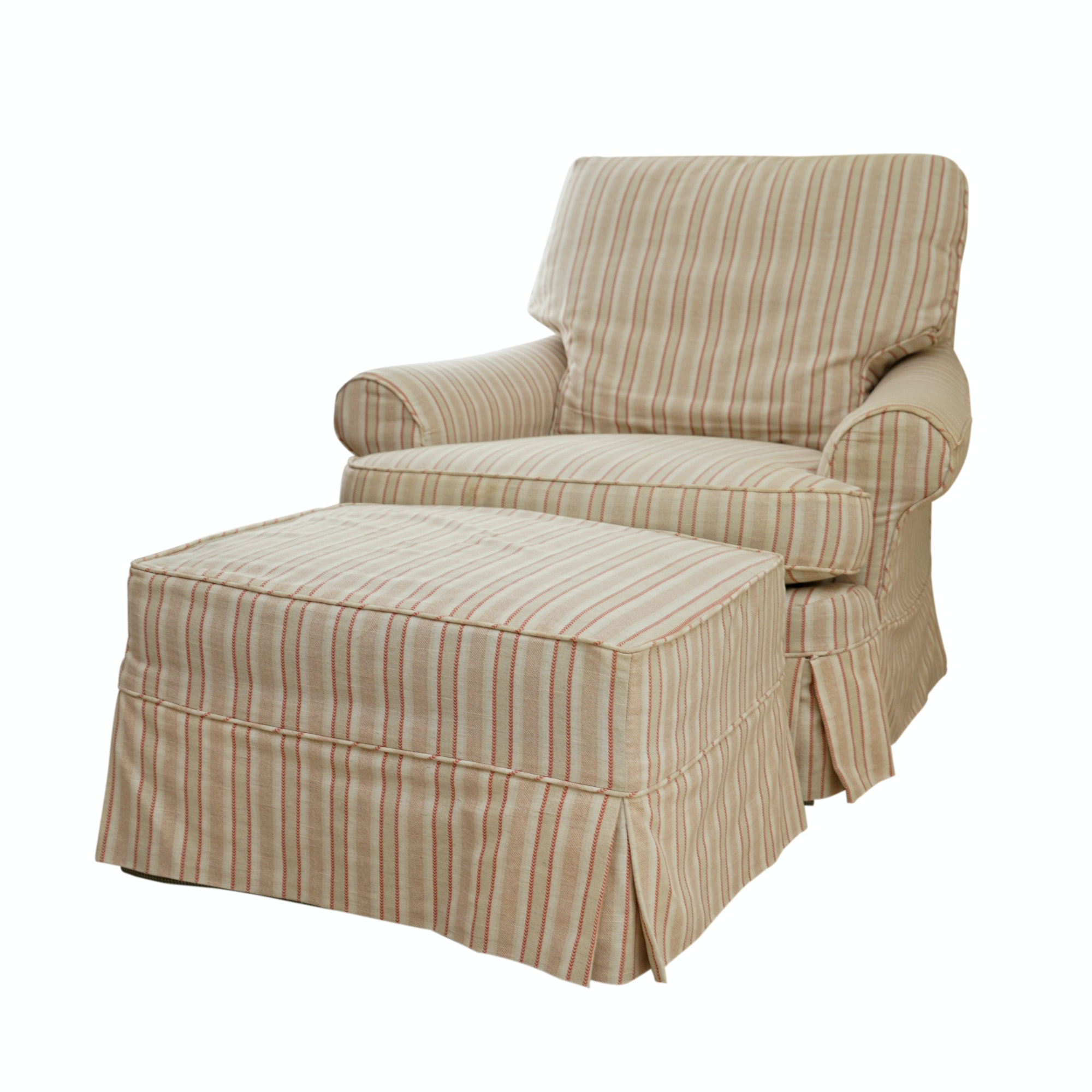 Upholstered Swivel Rocking Chair With Ottoman By Jessica Charles ...