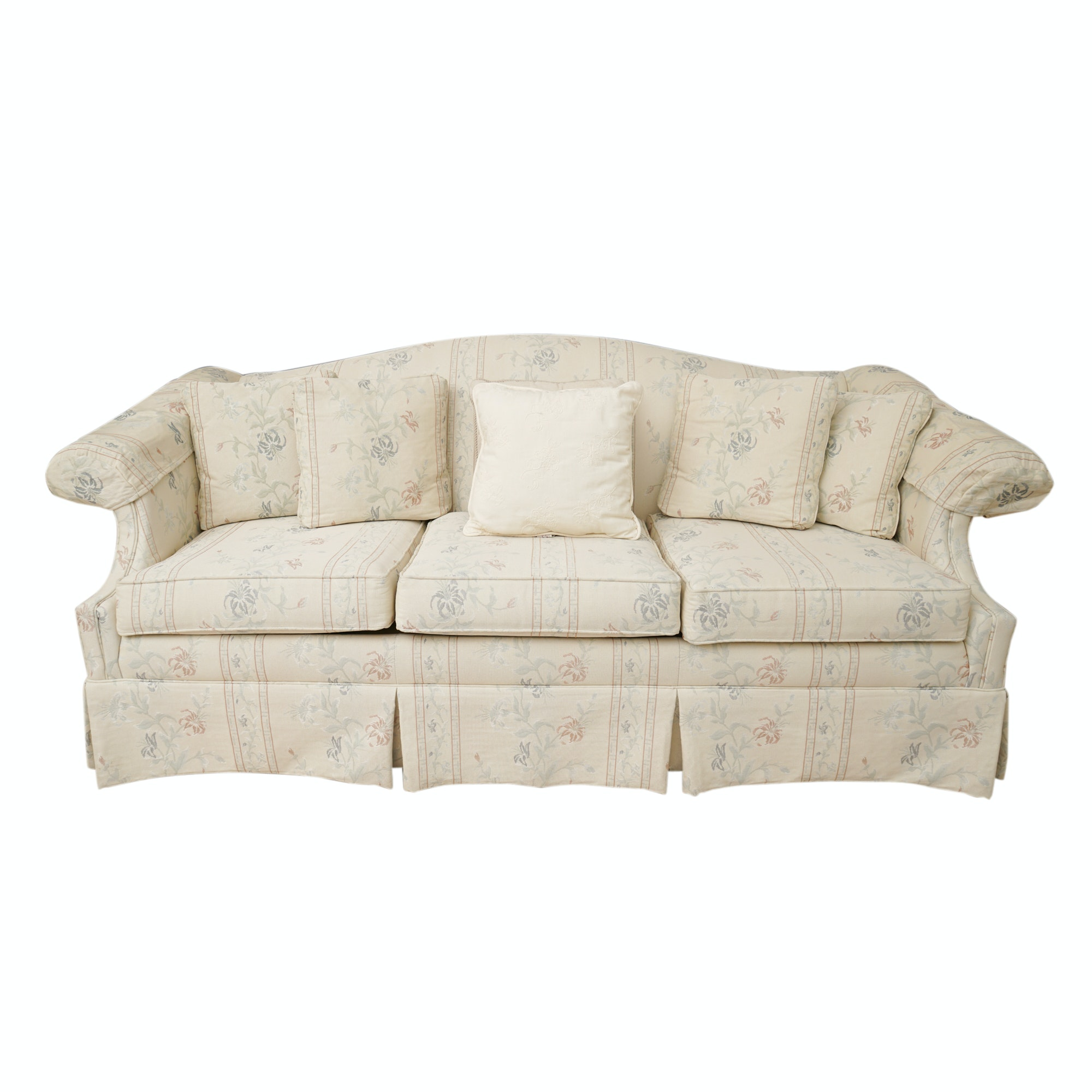 Floral Upholstered Sofa By Conover ...