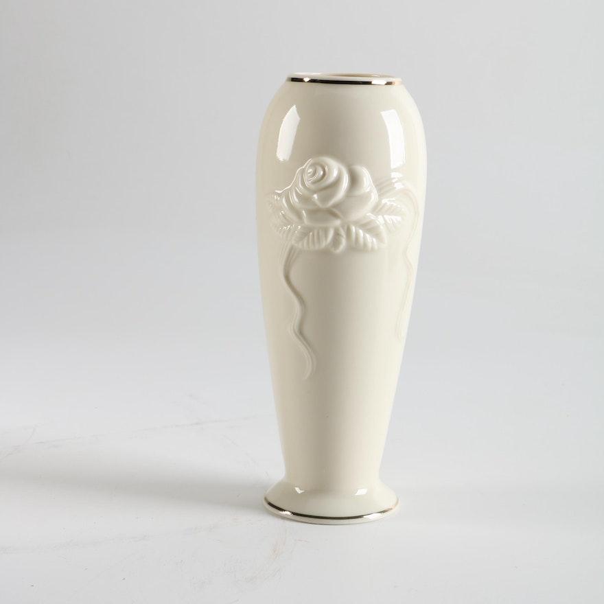 Lenox Rose Blossom Vase Ebth