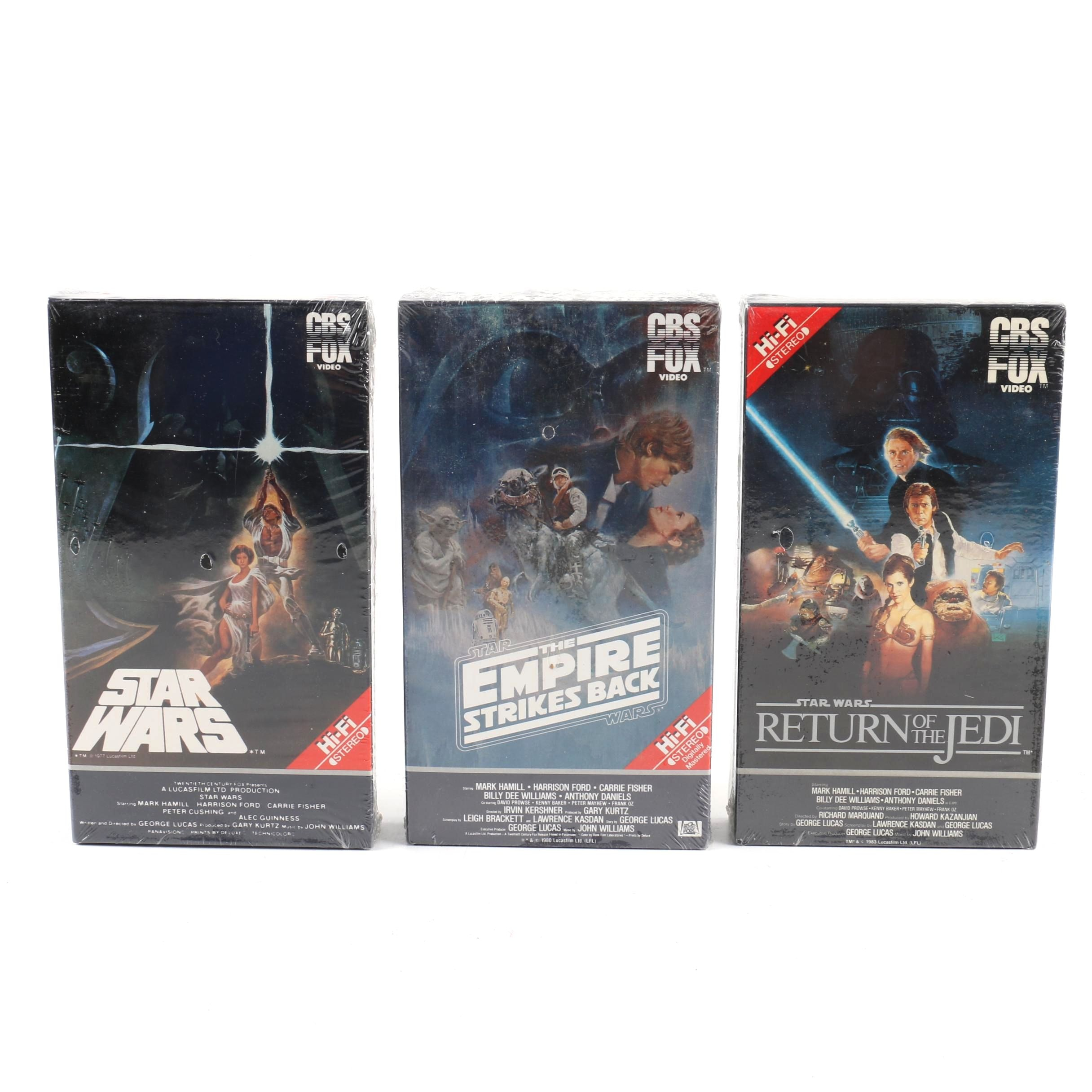 CBS/FOX Video Star Wars Original Trilogy Betamax Cassettes