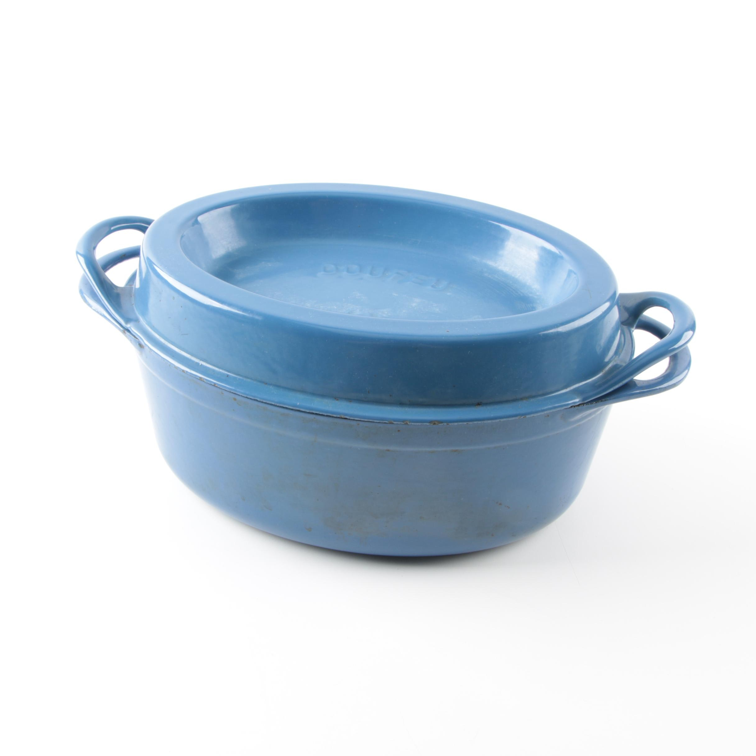 "Le Creuset ""Doufeu"" Enameled Cast Iron Dutch Oven with Lid"