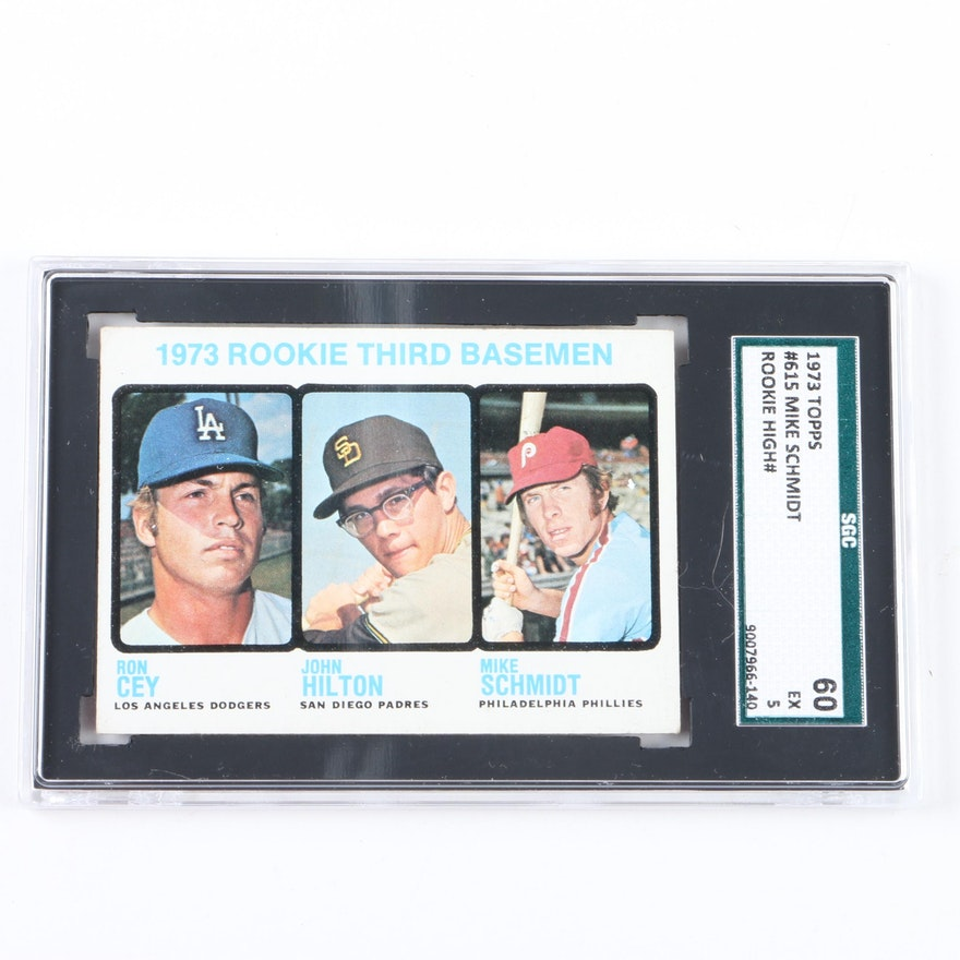 1973 Topps 615 Mike Schmidt Graded Rookie Card