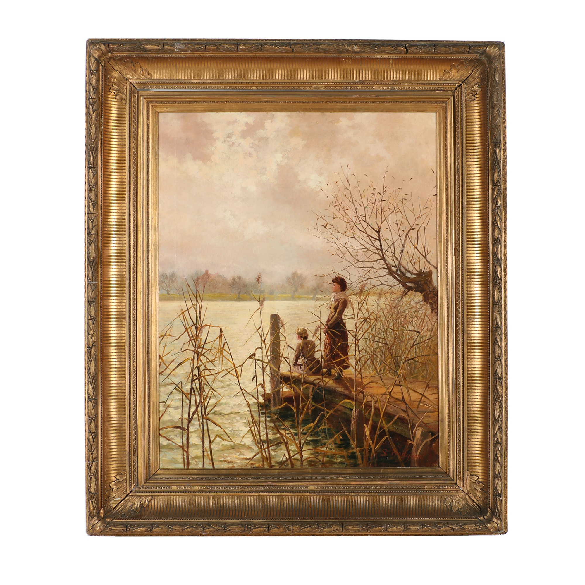 S. Hodgson Victorian Oil Painting