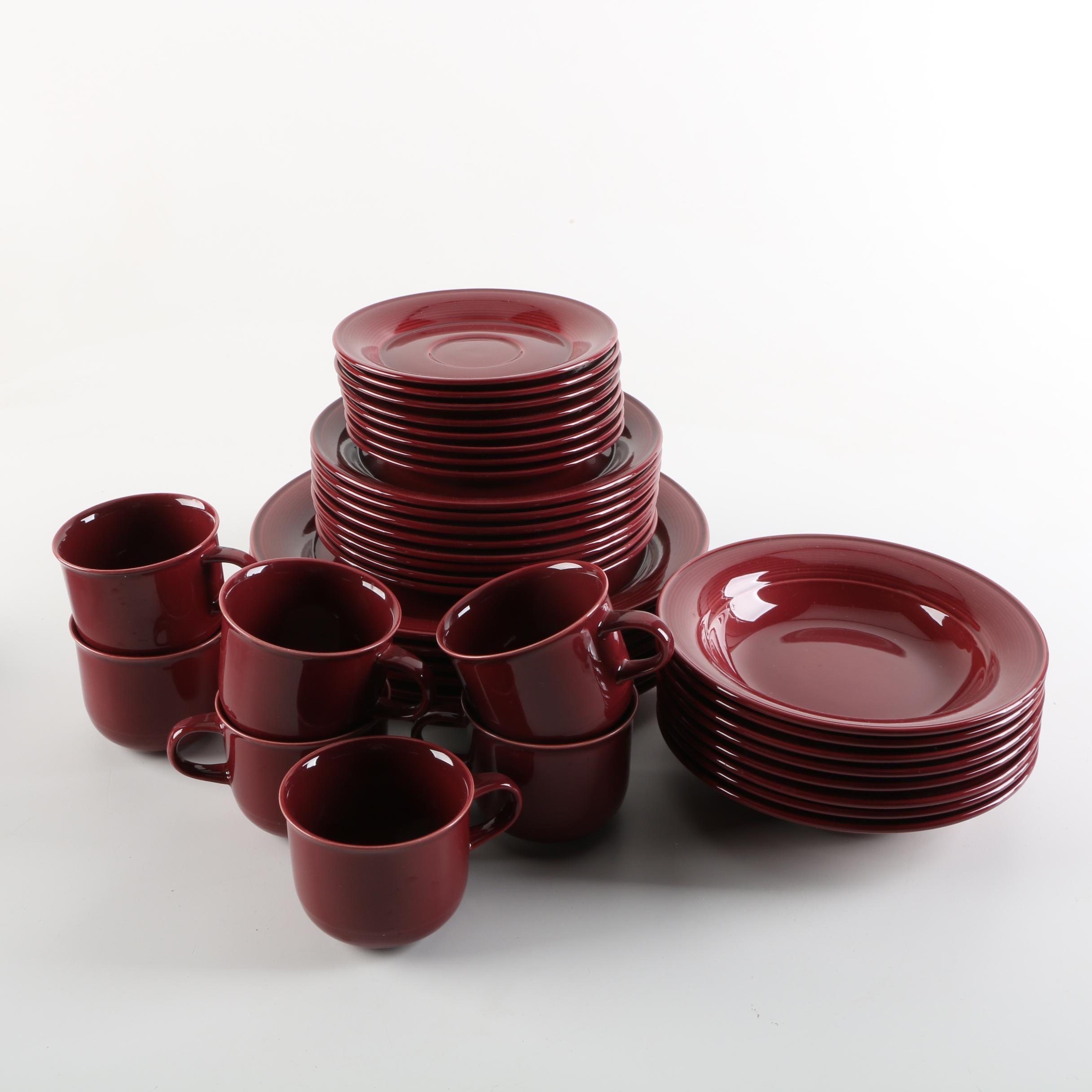 Nancy Calhoun \ Raspberry\  Stoneware Dishes ... & Nancy Calhoun \