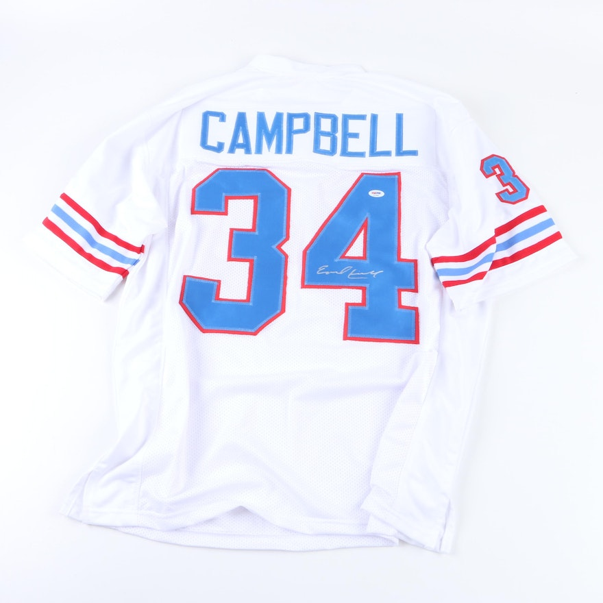 buy popular c2240 7a5d3 Earl Campbell Autographed Houston Oilers Jersey - PSA COA