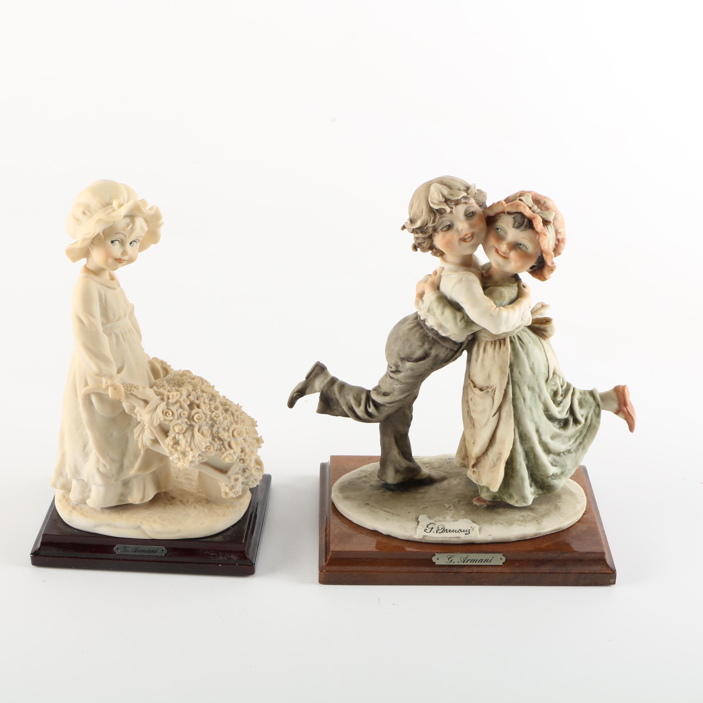 Capodimonte G. Armani Porcelain Figurines of Children