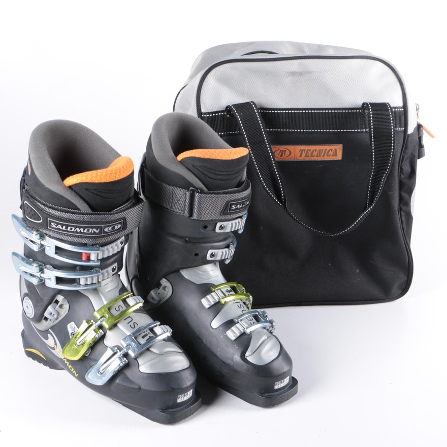 c2351d002c2e Salomon Men s Ski Boots and Tecnica Boot Bag   EBTH