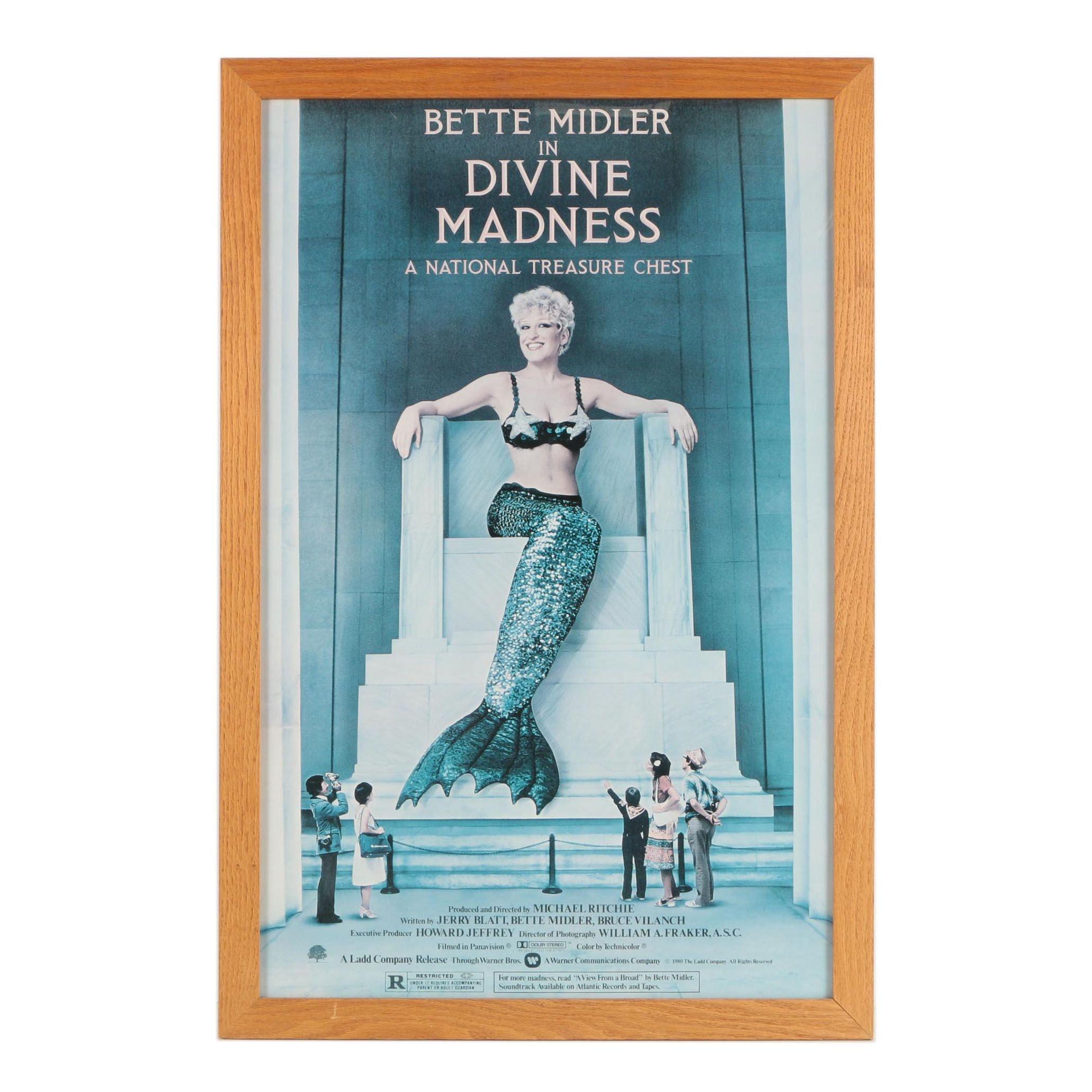 "Framed ""Divine Madness"" Film Poster"