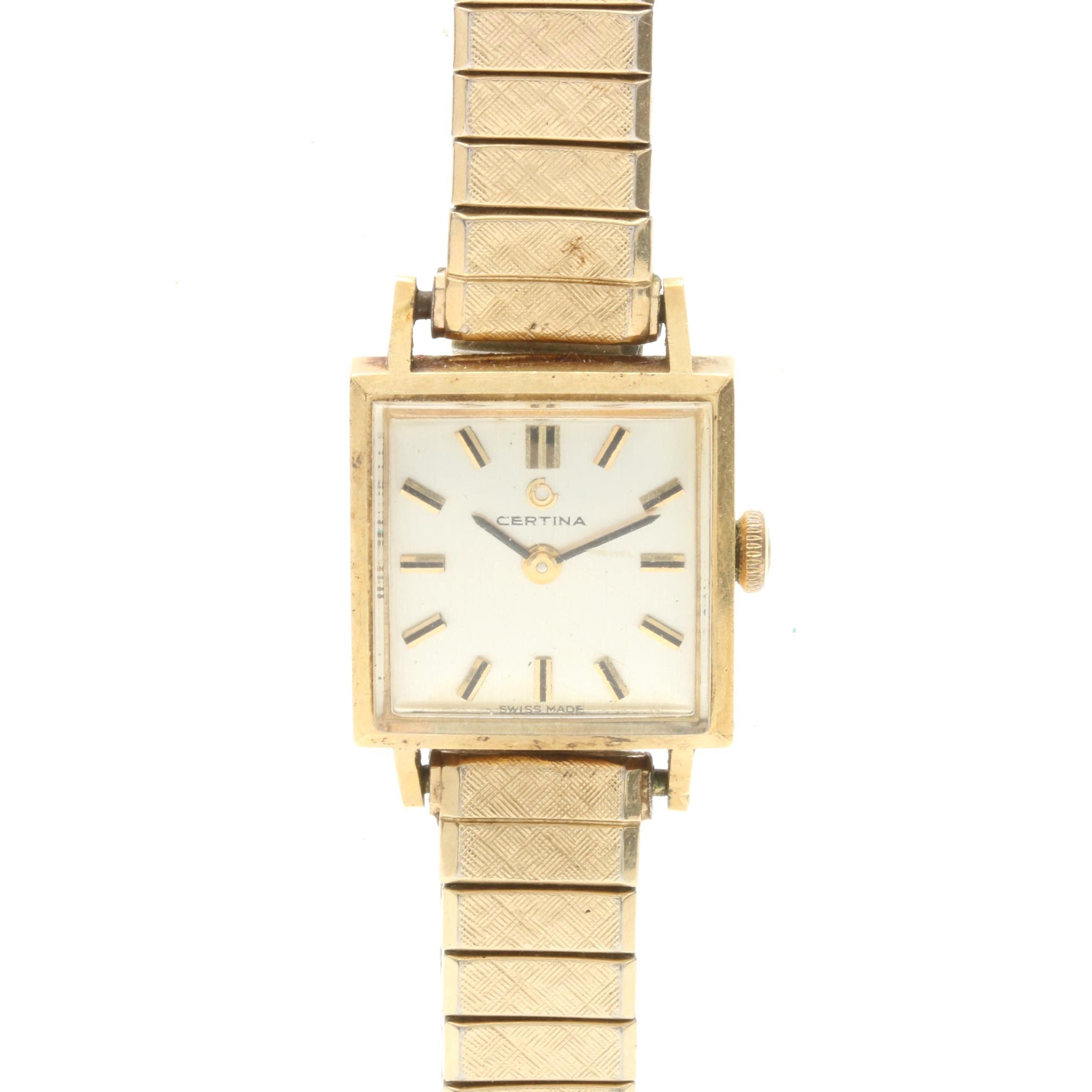 Vintage Certina 18K Yellow Gold Wristwatch